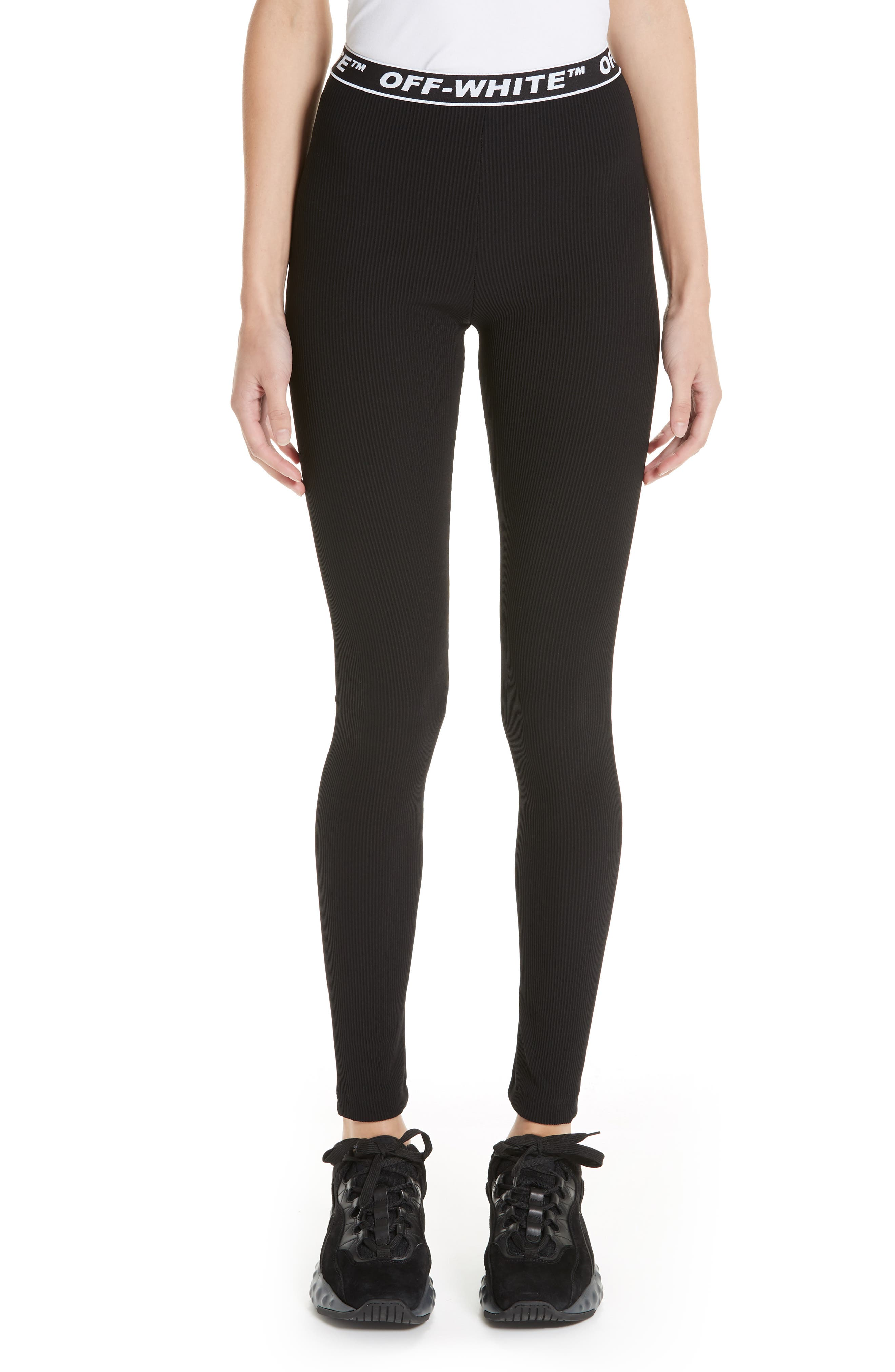 Cannette Simple Logo Leggings,                         Main,                         color, 001