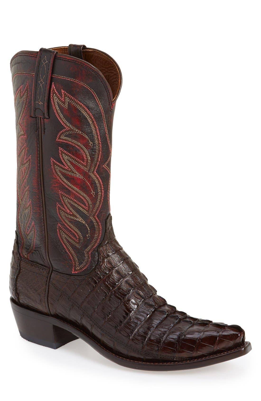 LUCCHESE,                             'Landon' Western Boot,                             Main thumbnail 1, color,                             214