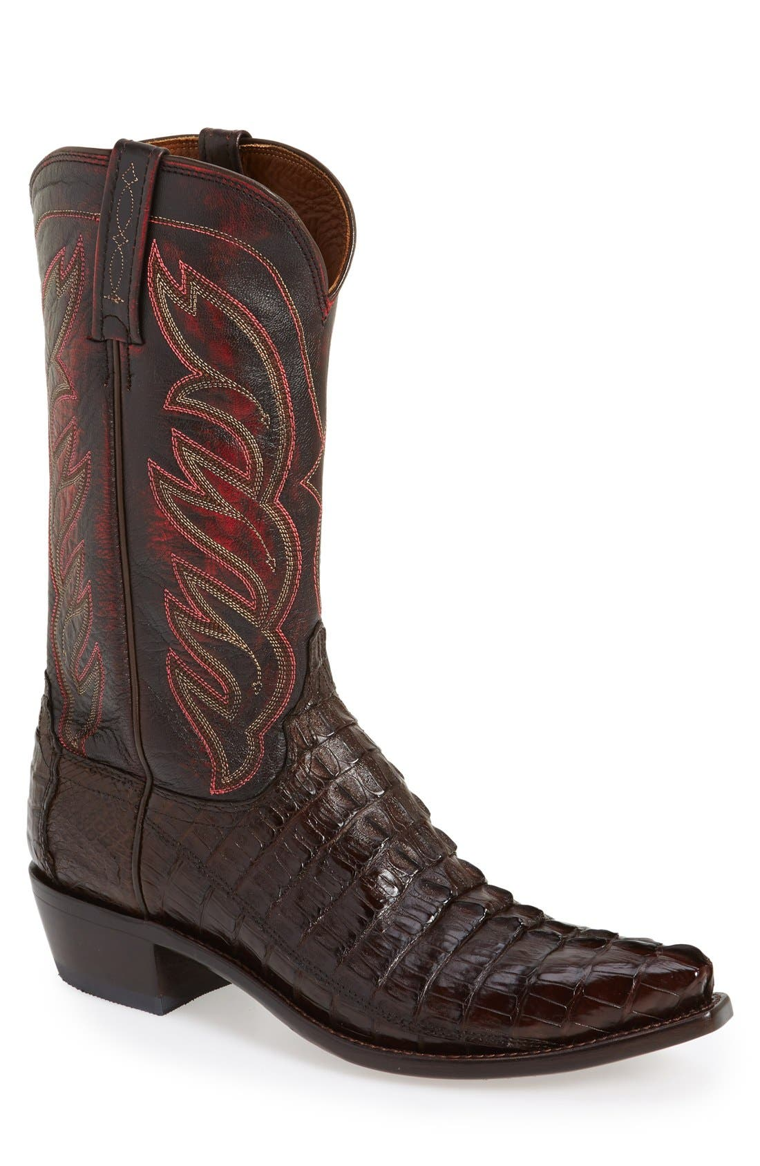 LUCCHESE 'Landon' Western Boot, Main, color, 214