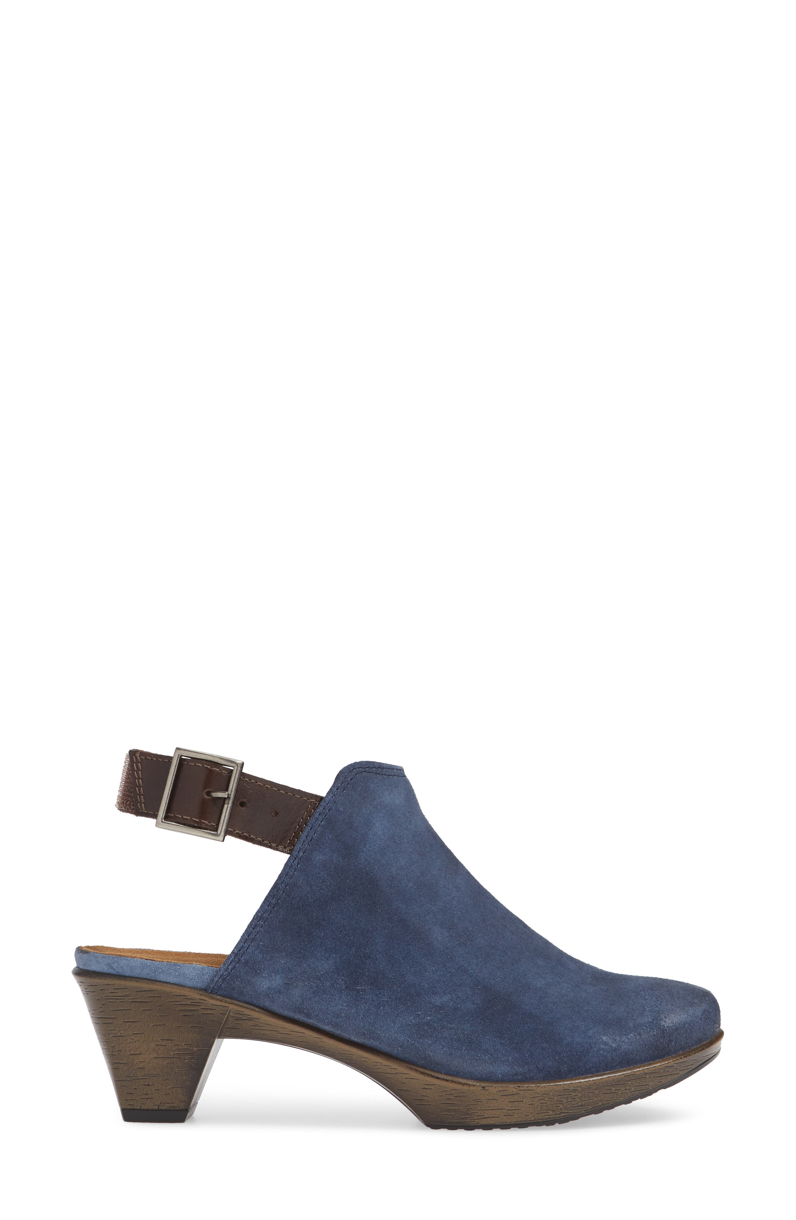 Upgrade Bootie,                             Alternate thumbnail 3, color,                             BLUE/ WALNUT SUEDE/ LEATHER