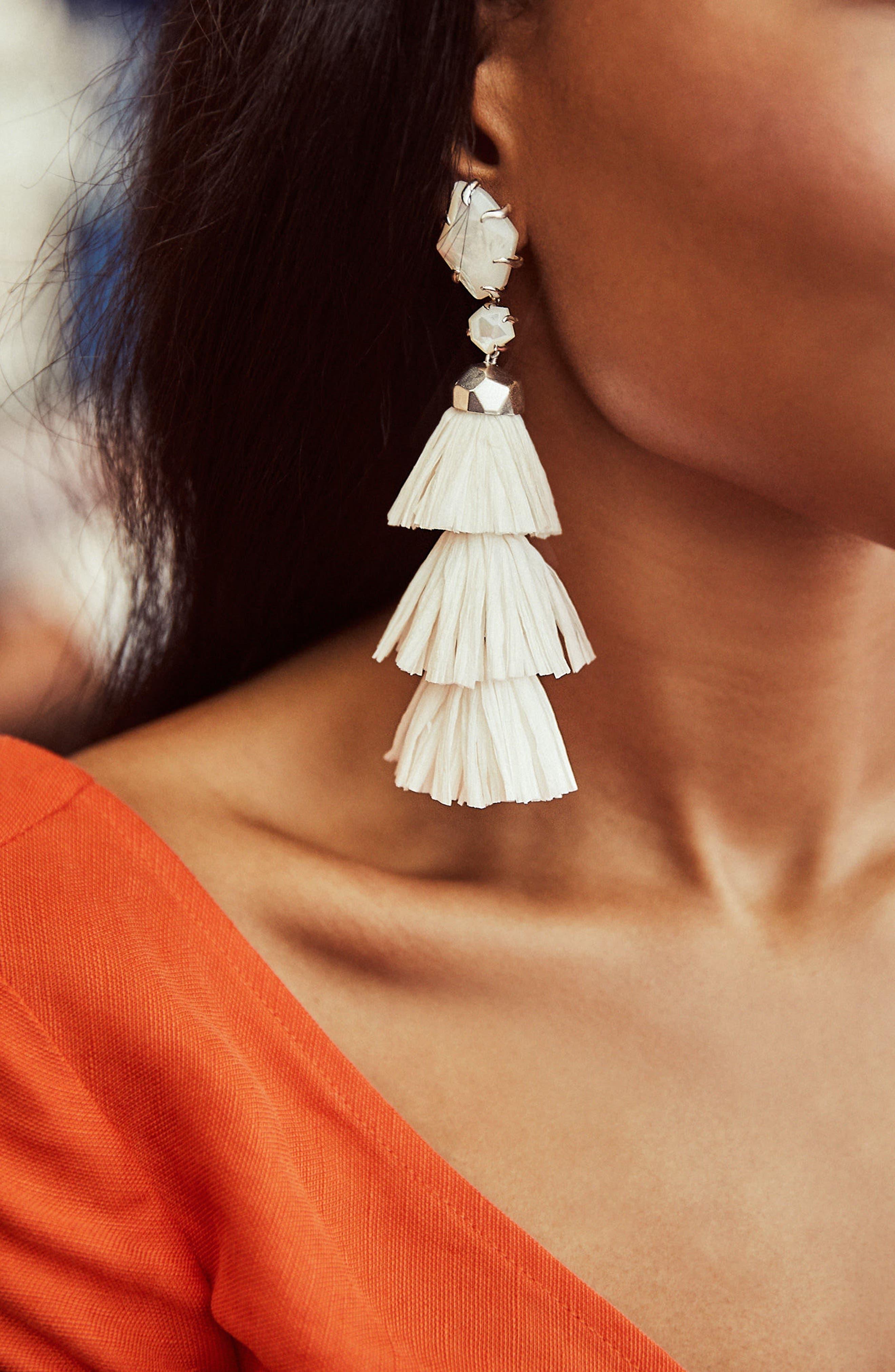 KENDRA SCOTT,                             Denise 3-in-1 Tassel Earrings,                             Alternate thumbnail 3, color,                             100
