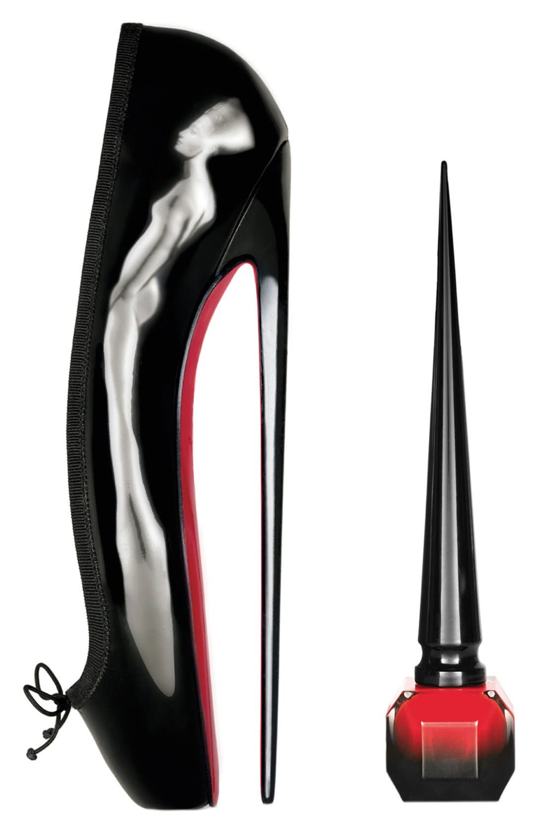 'Rouge Louboutin' Nail Colour,                             Alternate thumbnail 4, color,                             GOLDISSIMA