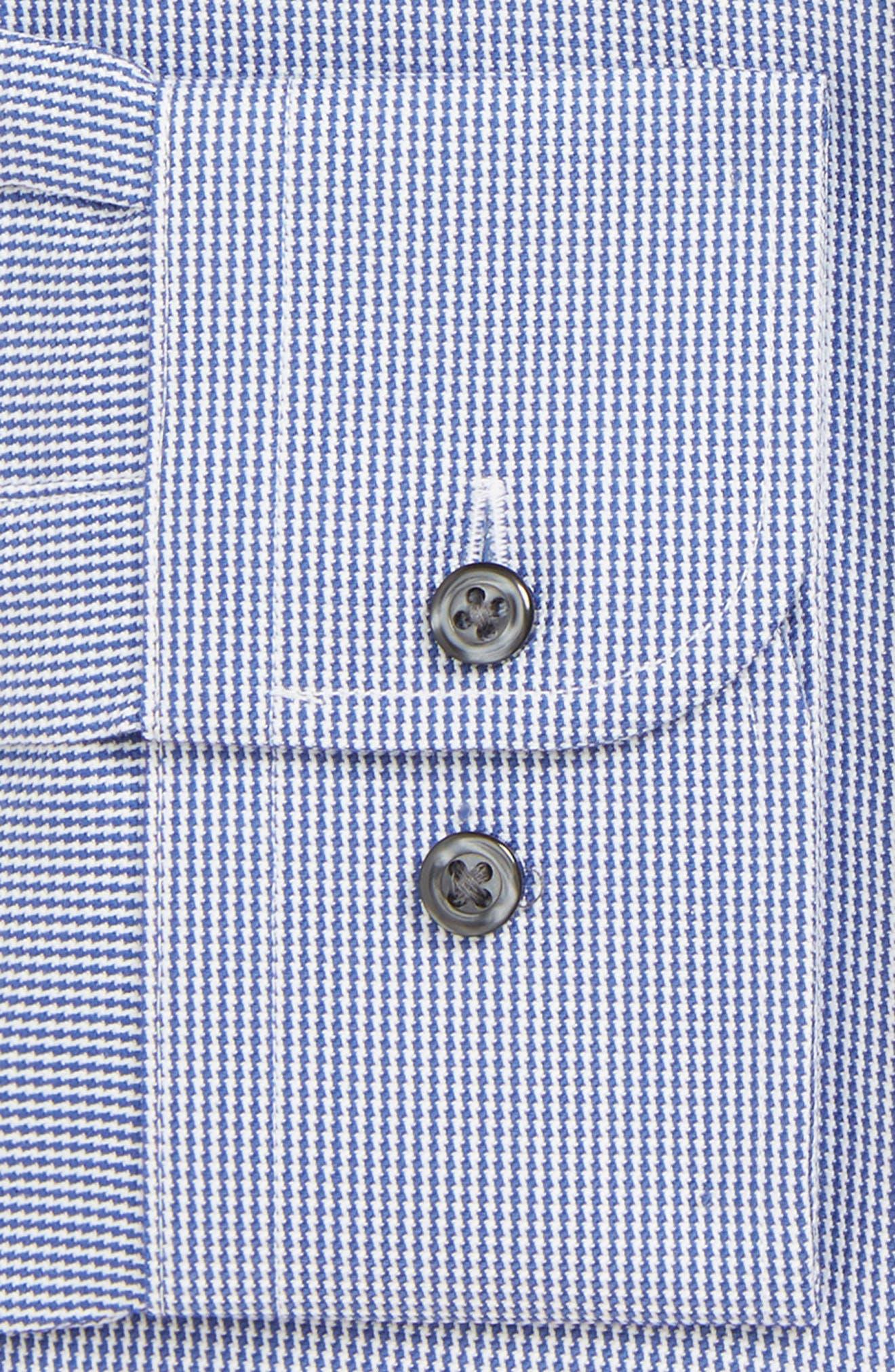 Classic Fit Non-Iron Stripe Dress Shirt,                             Alternate thumbnail 2, color,                             NAVY DRESS