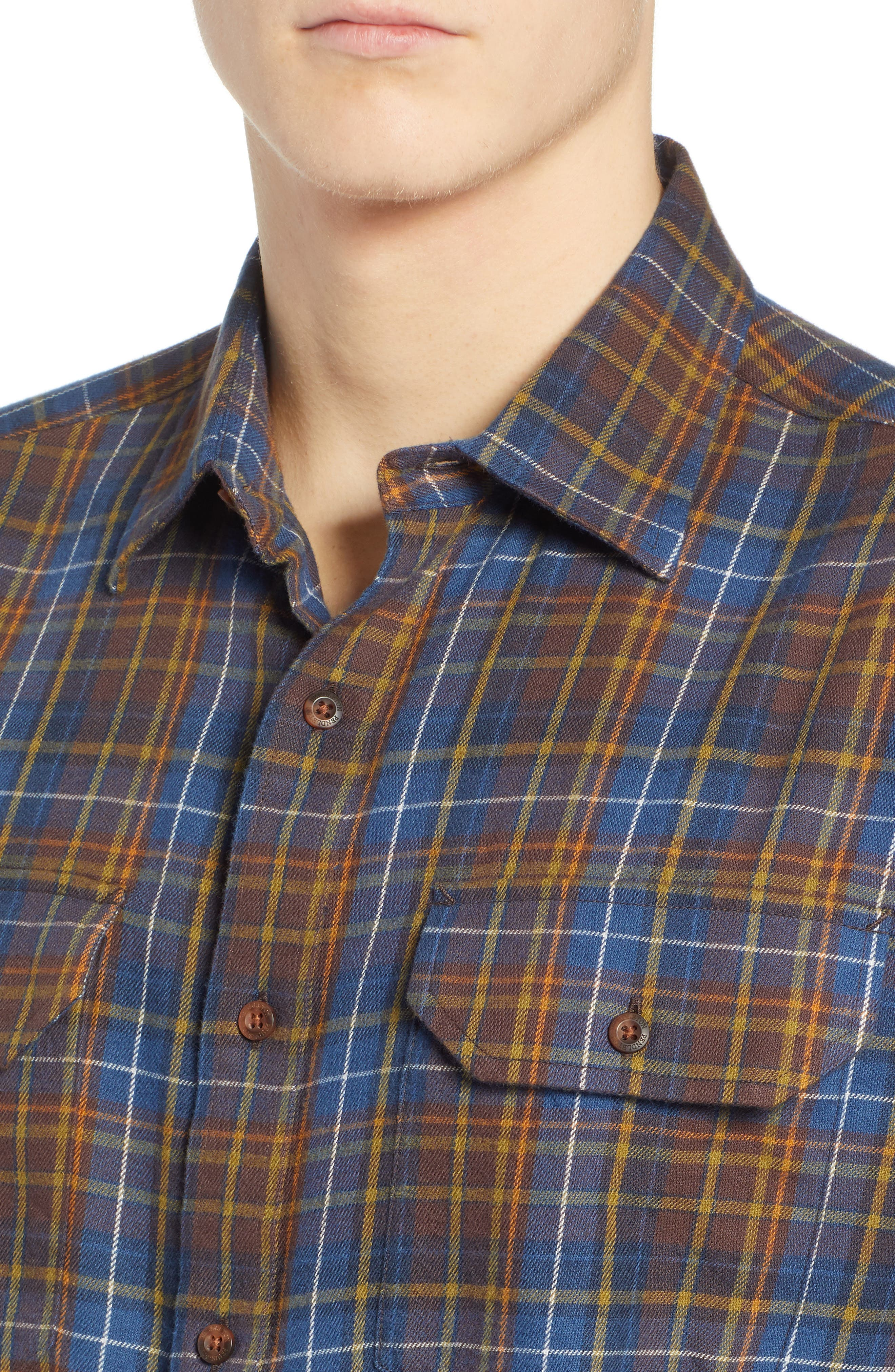 Bridger Plaid Twill Shirt,                             Alternate thumbnail 2, color,                             BLUE/ BROWN/ GREEN PLAID