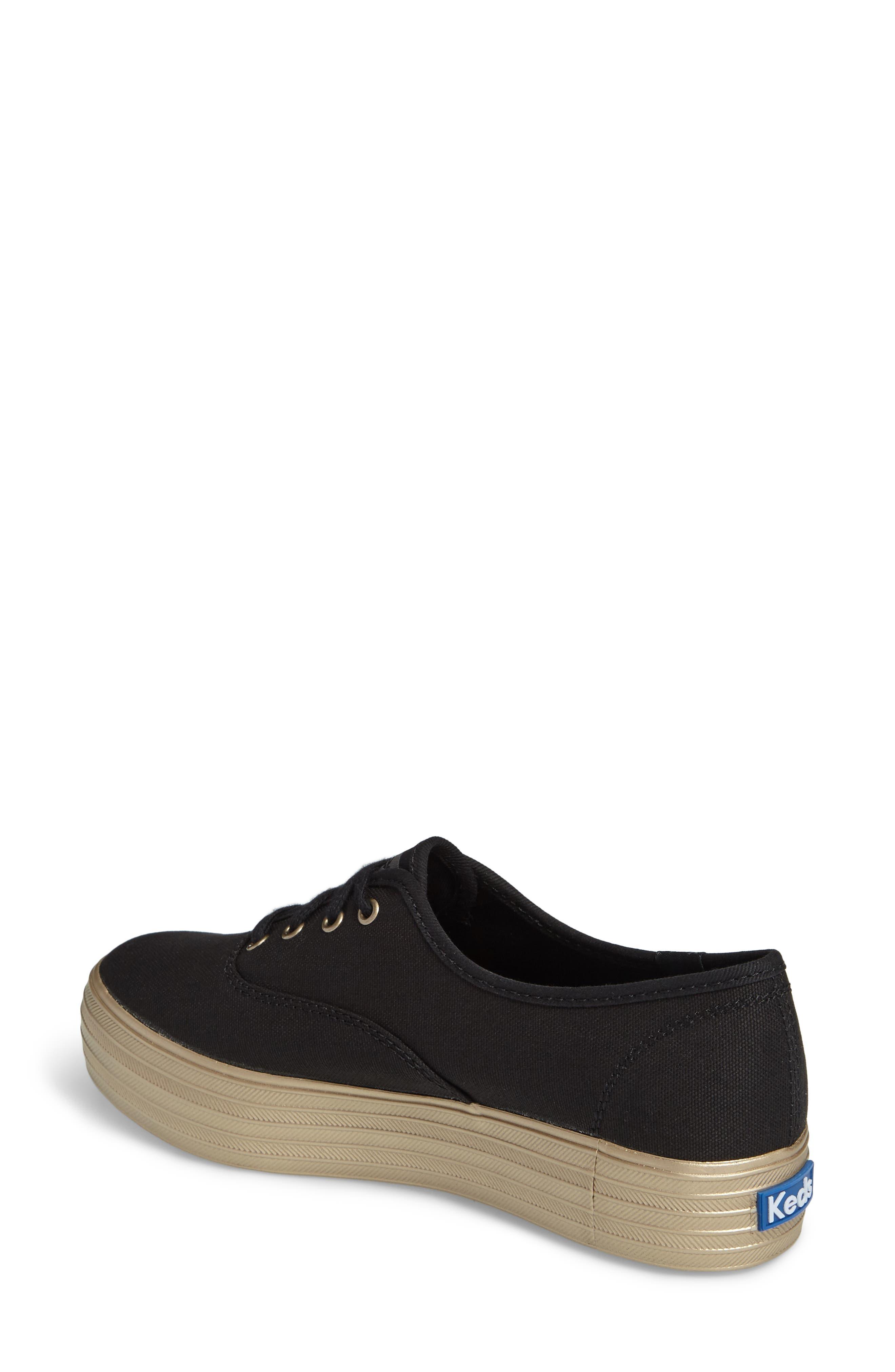 Triple Shimmer Platform Sneaker,                             Alternate thumbnail 2, color,                             002
