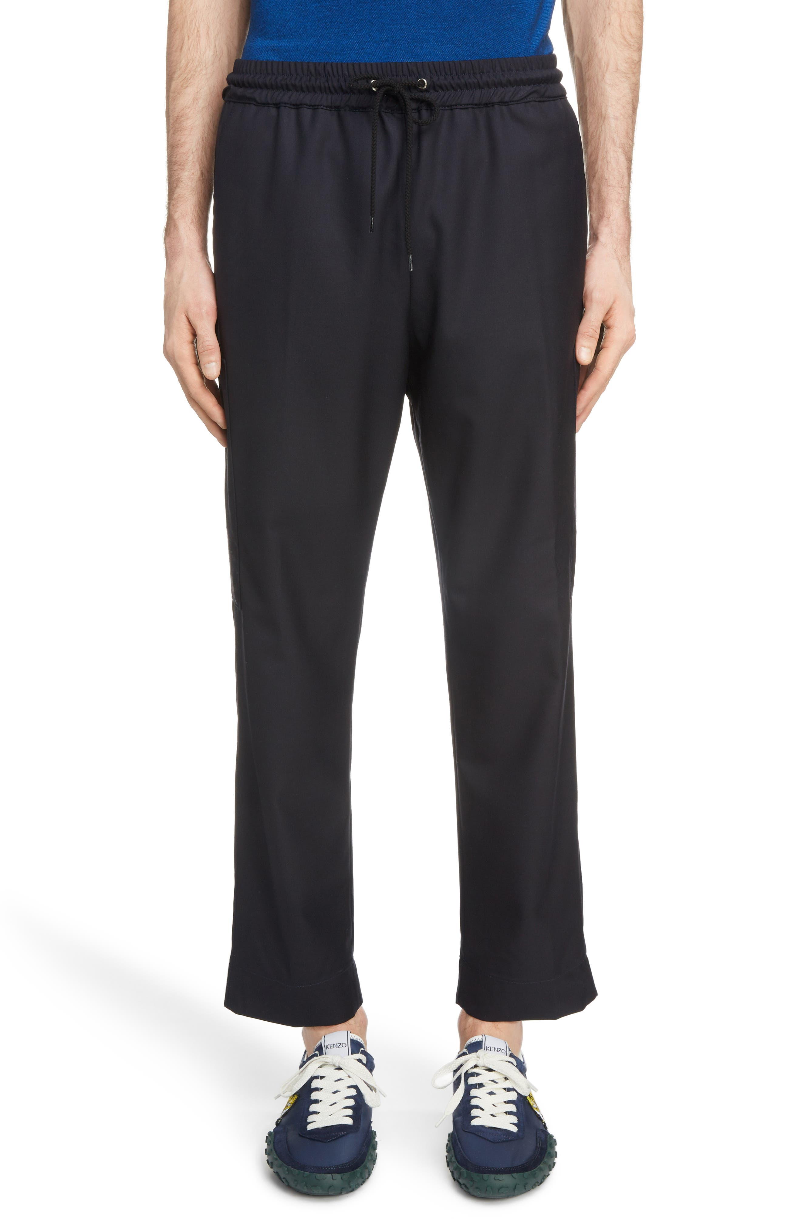 Kenzo Cropped Cargo Pants, Blue