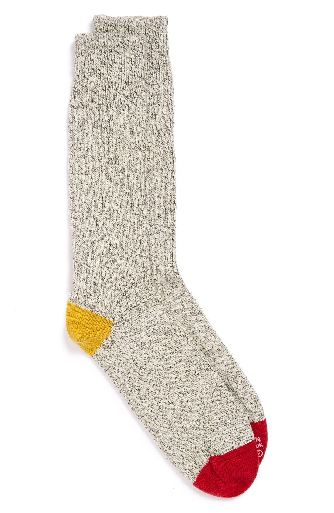 Knit Cotton Socks, Main, color, 700