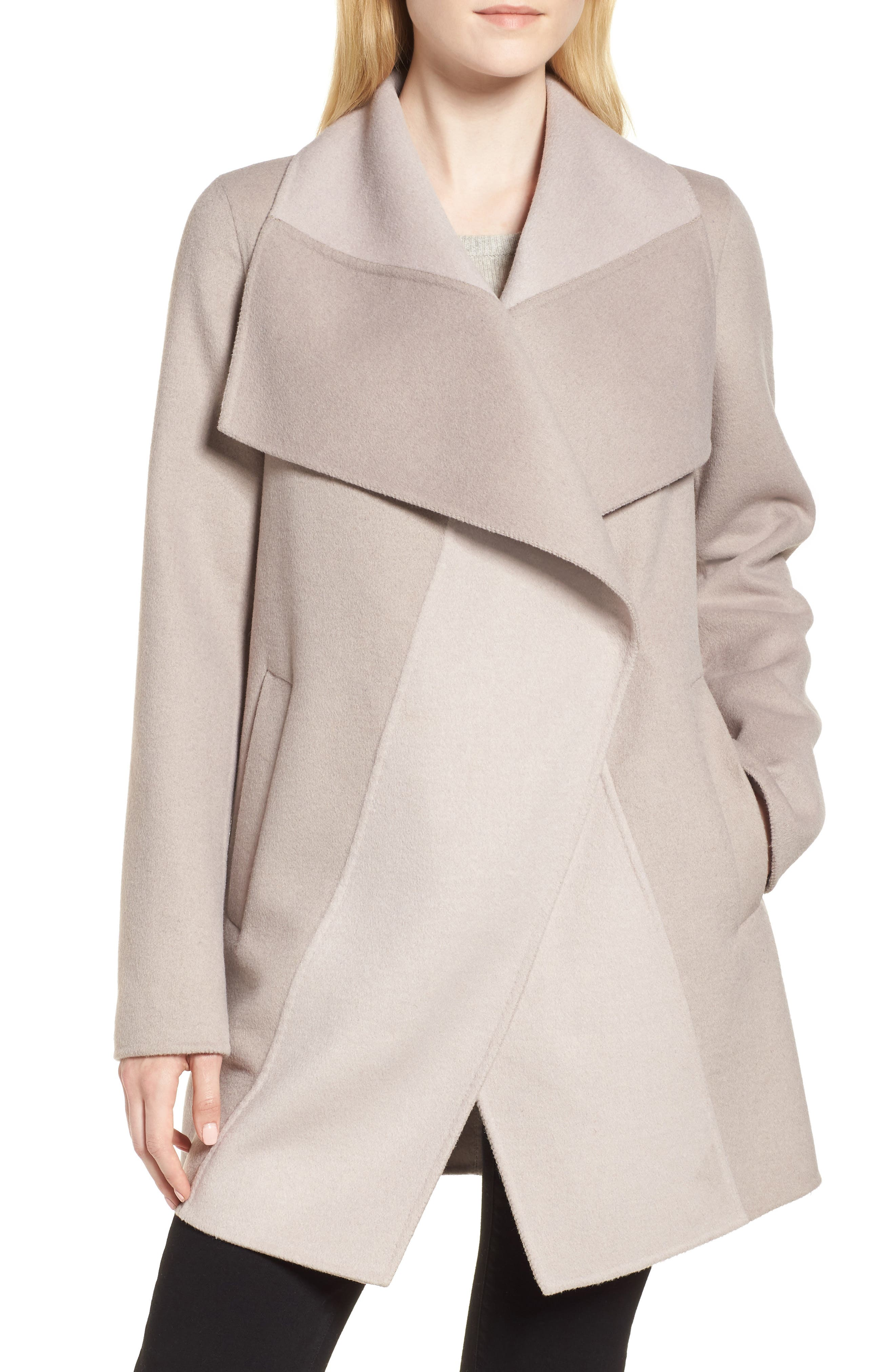 Nicky Double Face Wool Blend Oversize Coat,                         Main,                         color, OYSTER BAY/ BROWN SUGAR