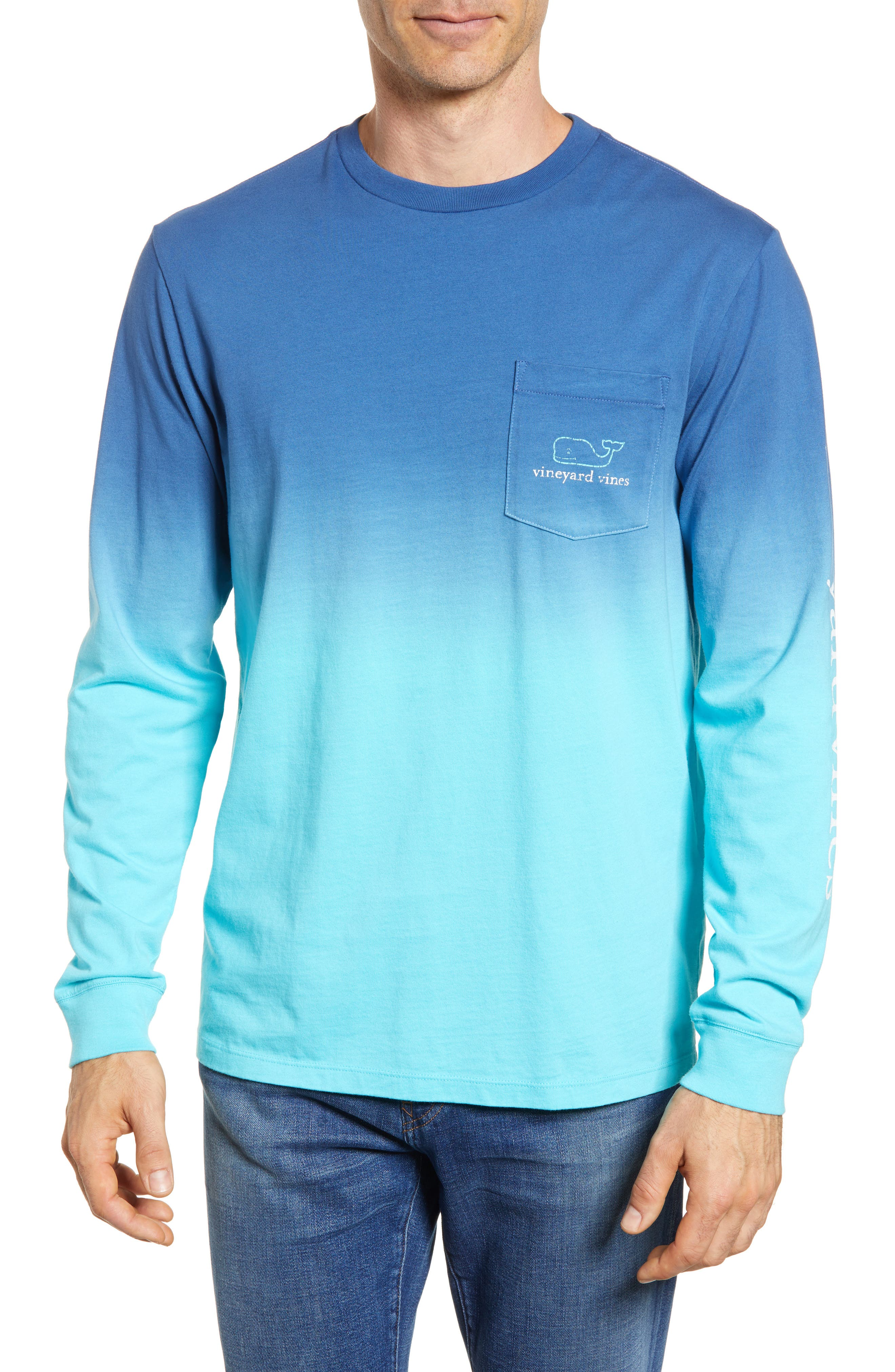 Dip Dye Two-Tone Whale Pocket T-Shirt,                             Main thumbnail 1, color,                             461
