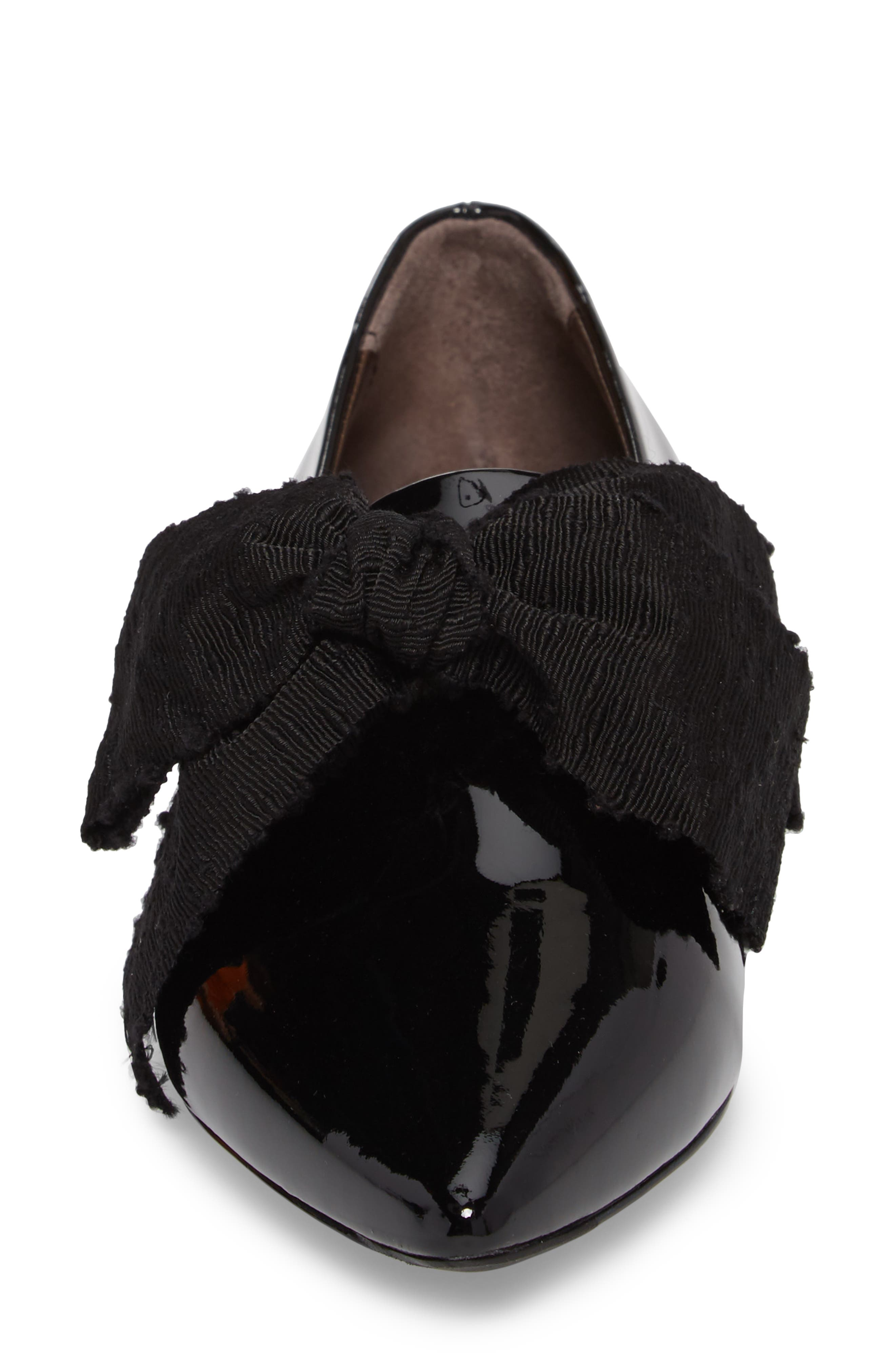 Maggie Bow Loafer,                             Alternate thumbnail 4, color,                             001
