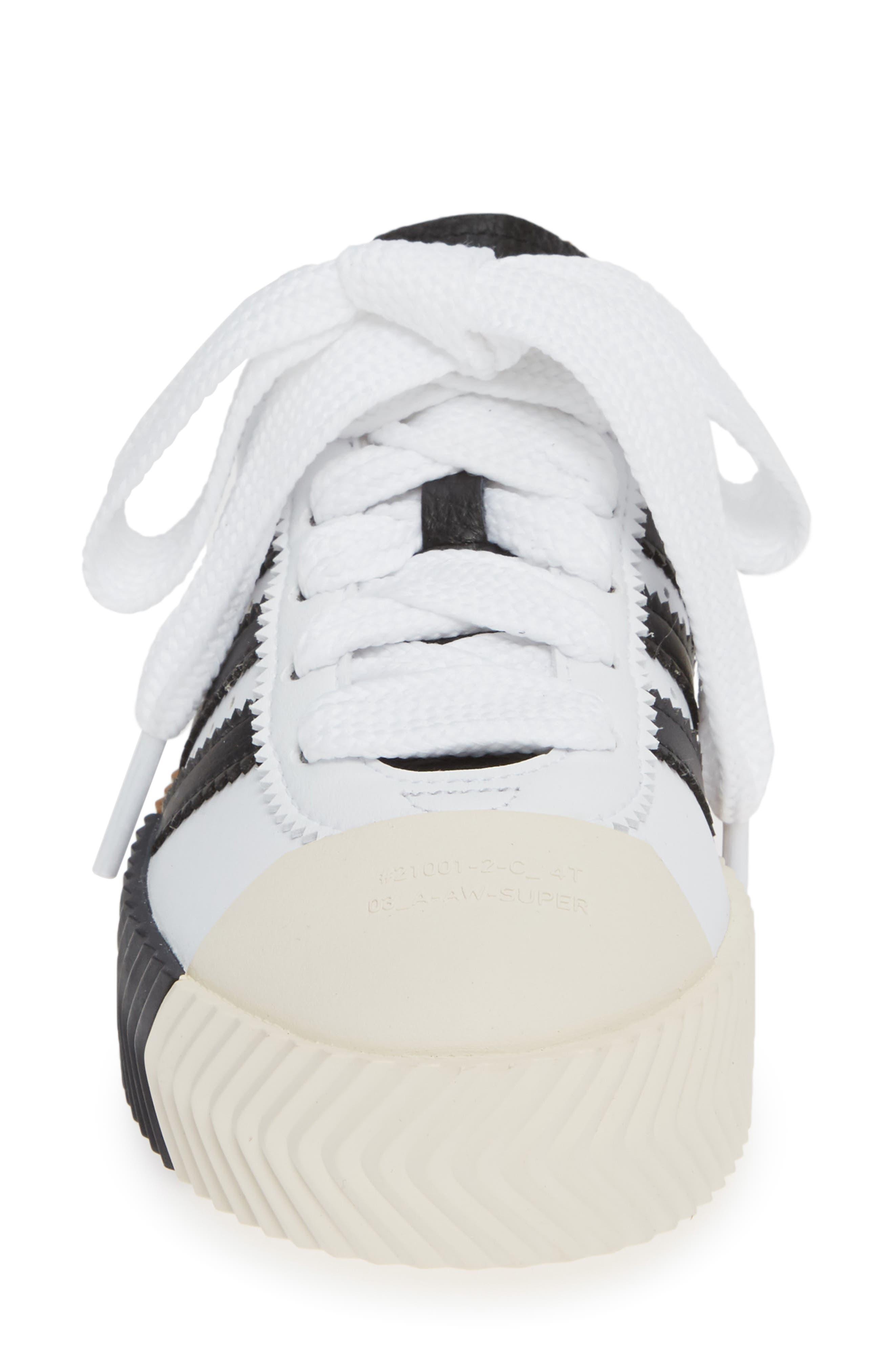 Skate Super Sneaker,                             Alternate thumbnail 4, color,                             WHITE/ BLACK/ BROWN