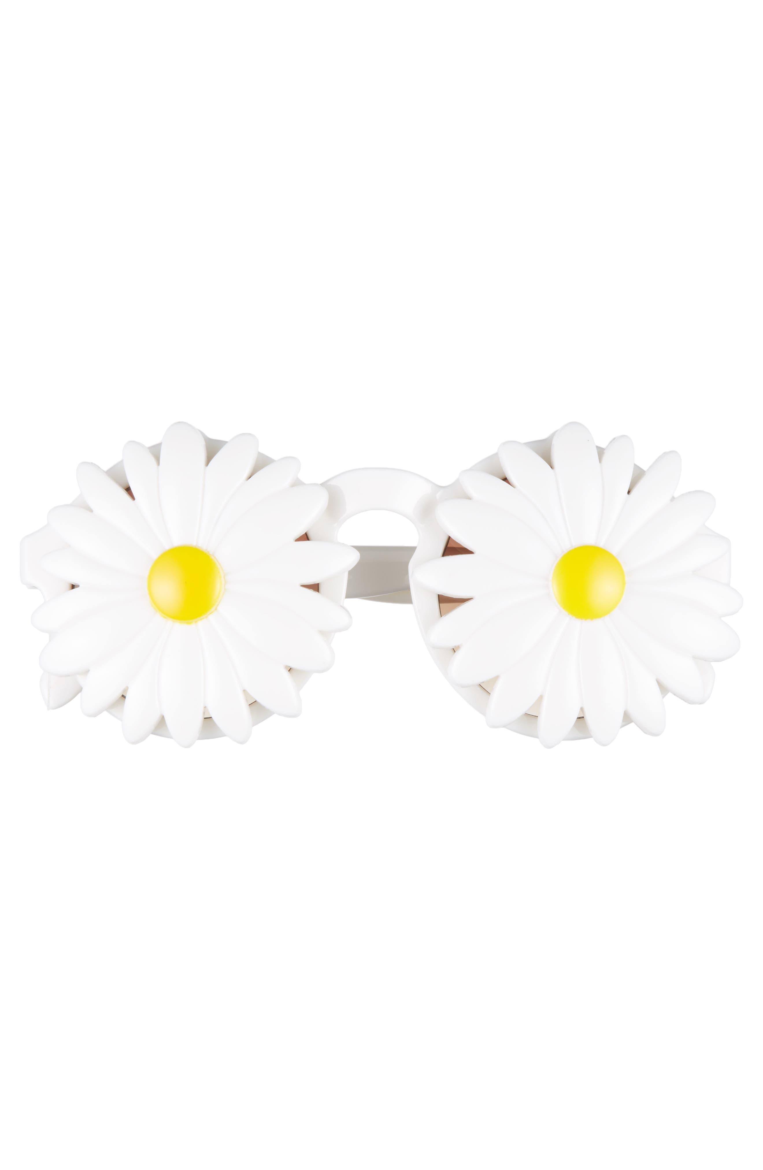 Daisy 45mm Round Sunglasses,                             Alternate thumbnail 3, color,                             100