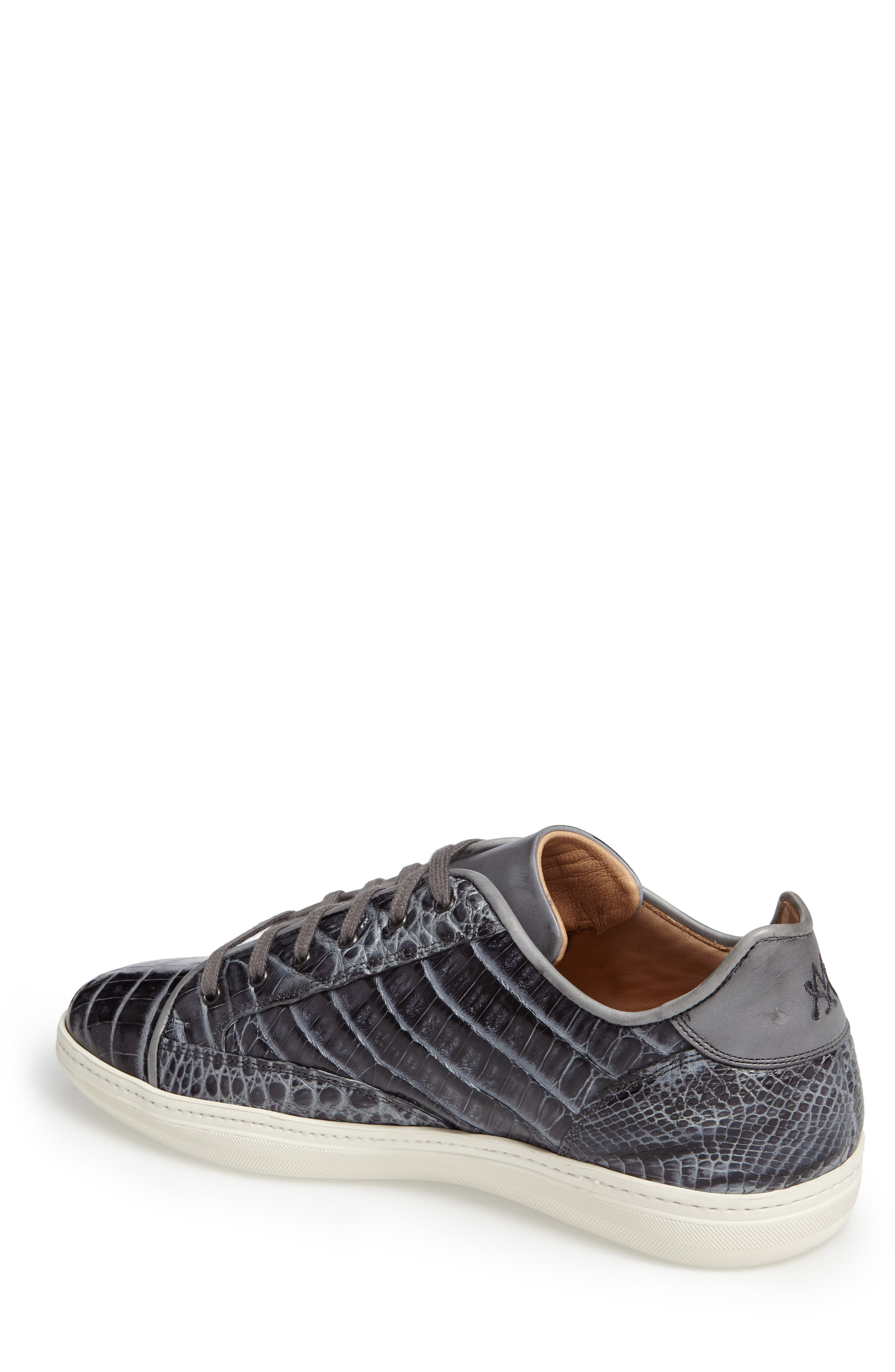 Hickman Genuine Crocodile Sneaker,                             Alternate thumbnail 2, color,                             020