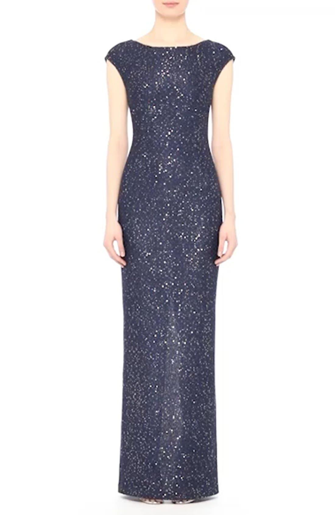 Sequin Gown,                             Alternate thumbnail 8, color,                             420
