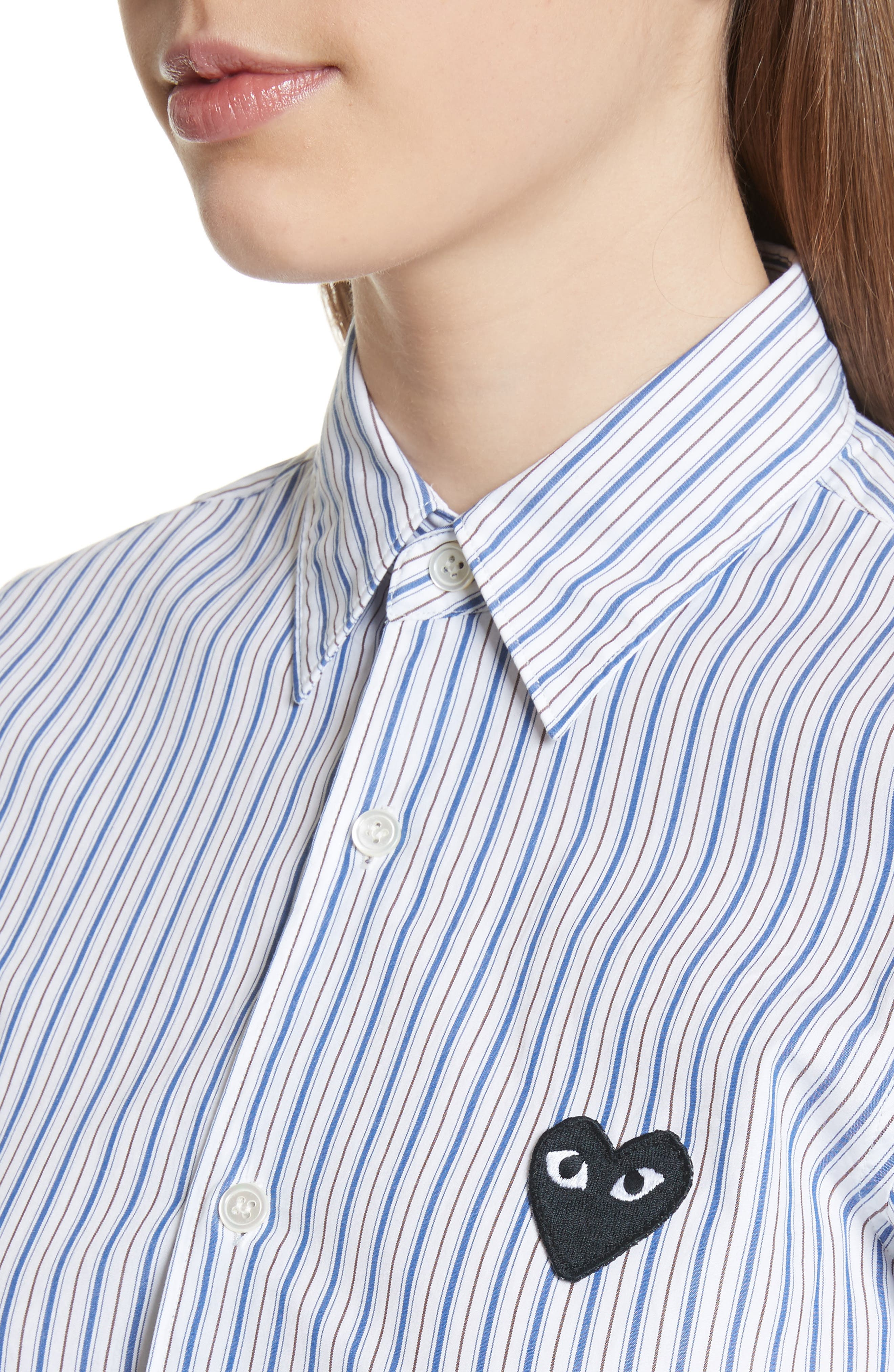 Stripe Shirt,                             Alternate thumbnail 4, color,                             BLUE