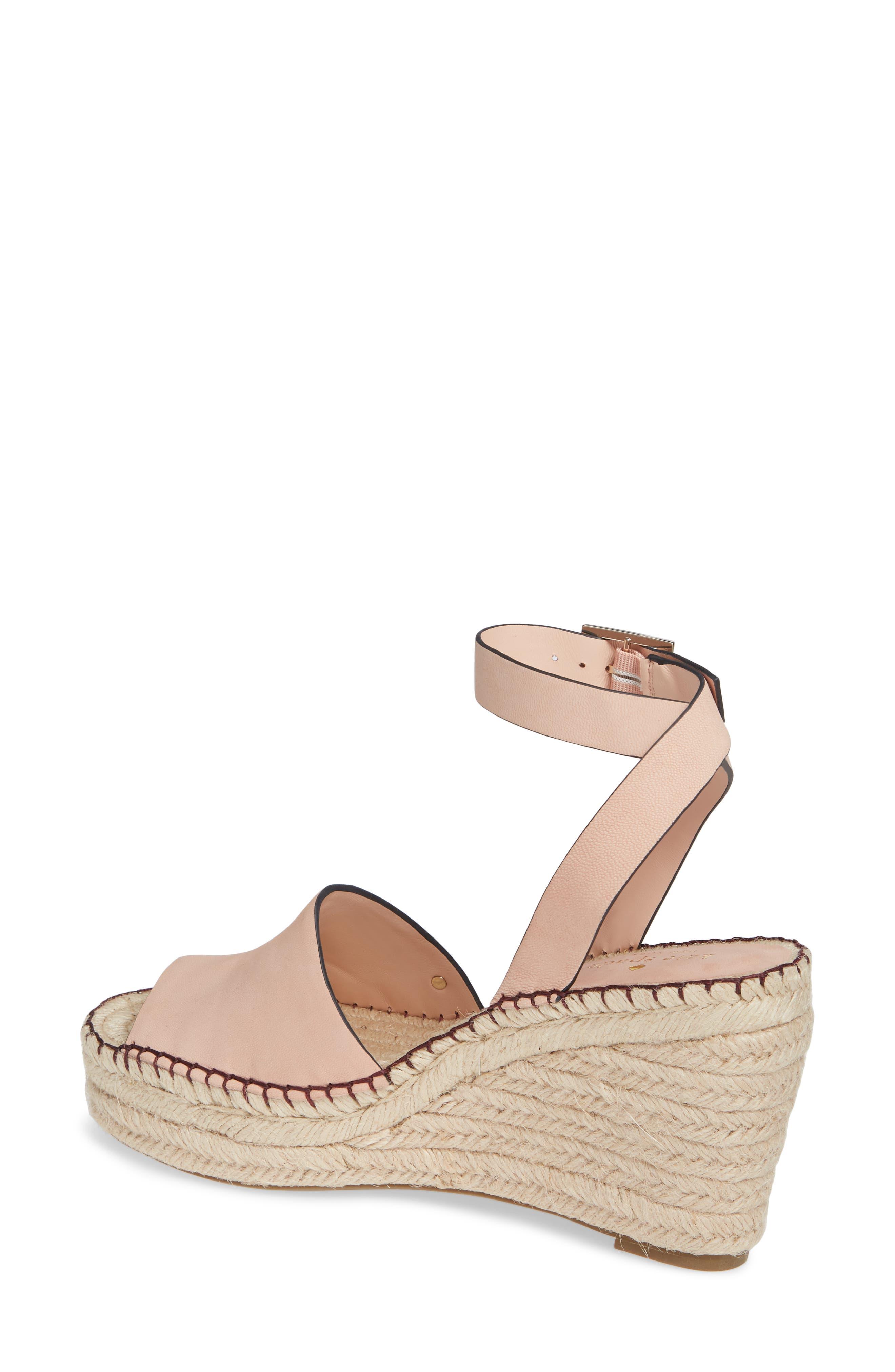felipa wedge sandal,                             Alternate thumbnail 2, color,                             CONCH SHELL NUBUK