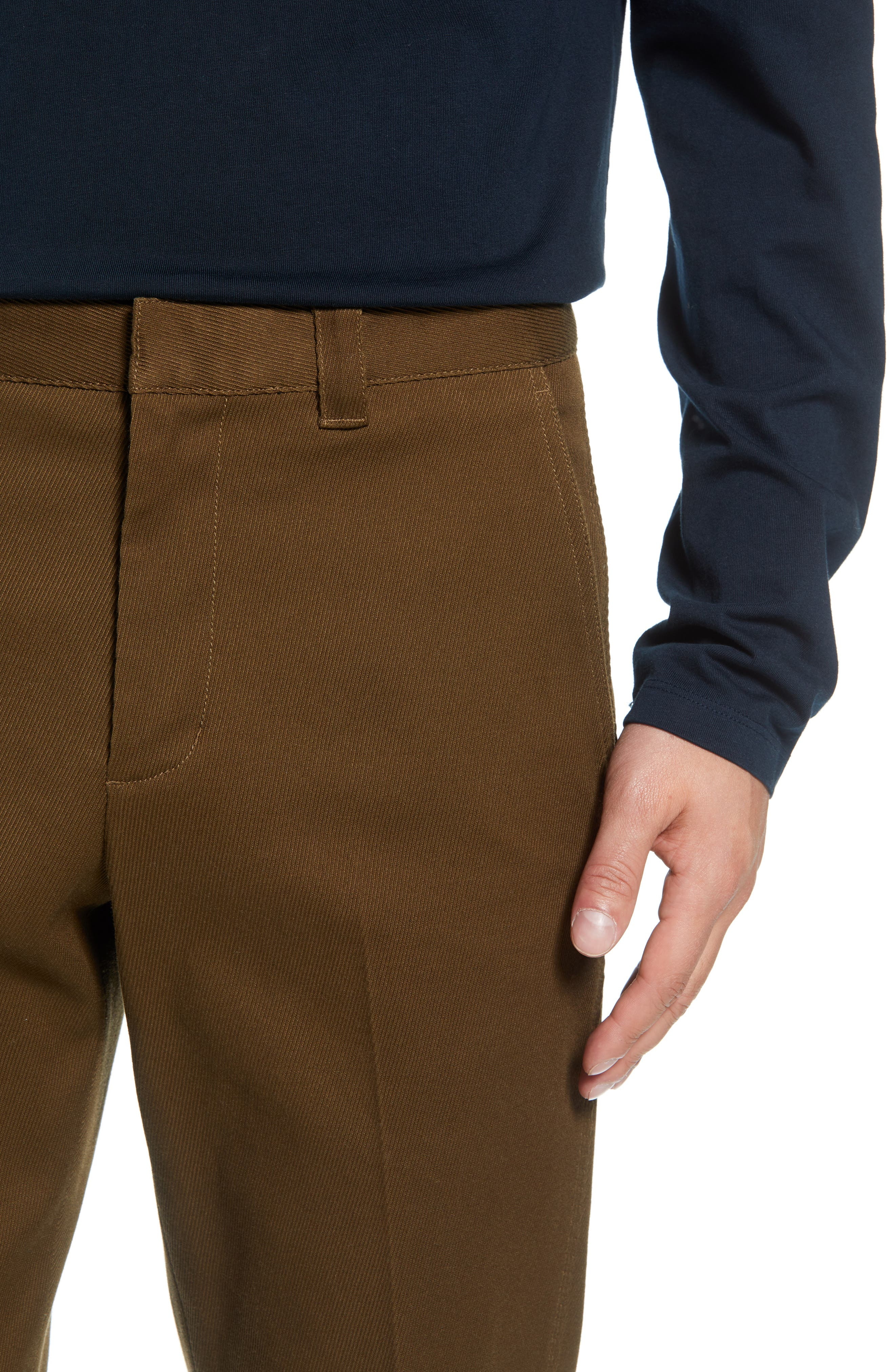 Stay Pressed Classic Fit Pants,                             Alternate thumbnail 4, color,                             INFANTRY GREEN