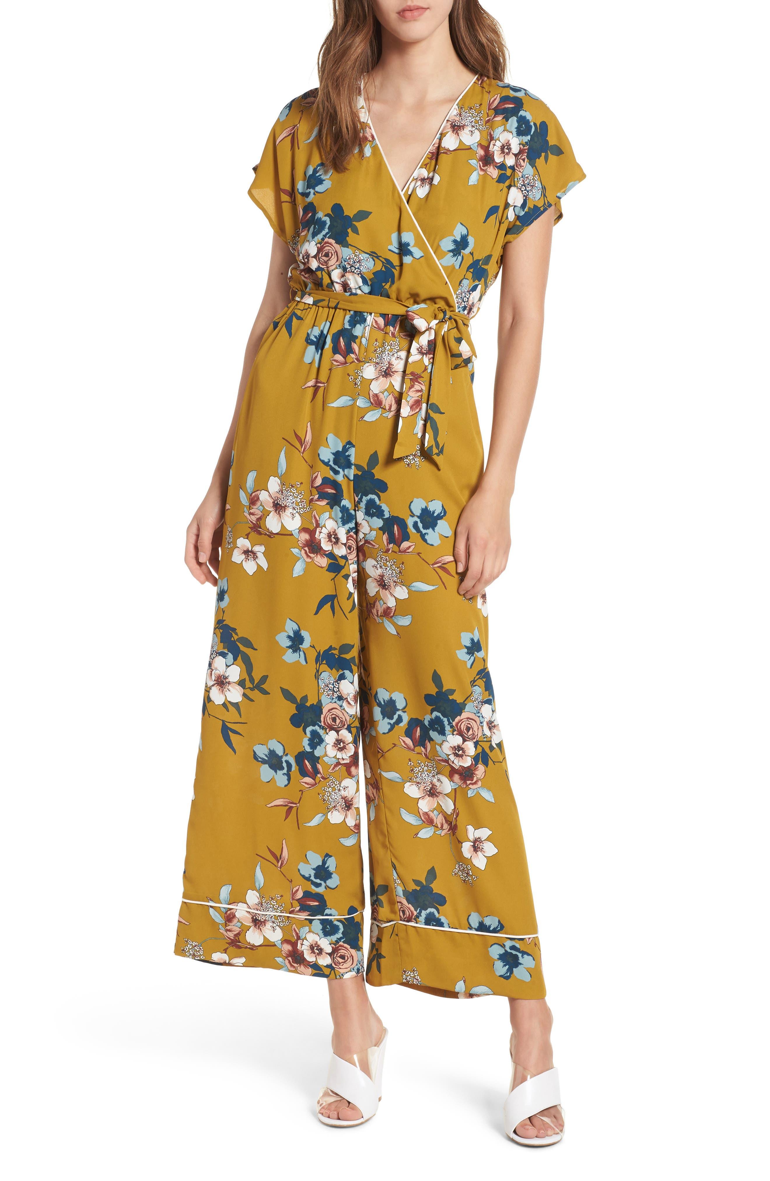 Floral Jumpsuit,                             Main thumbnail 1, color,                             720