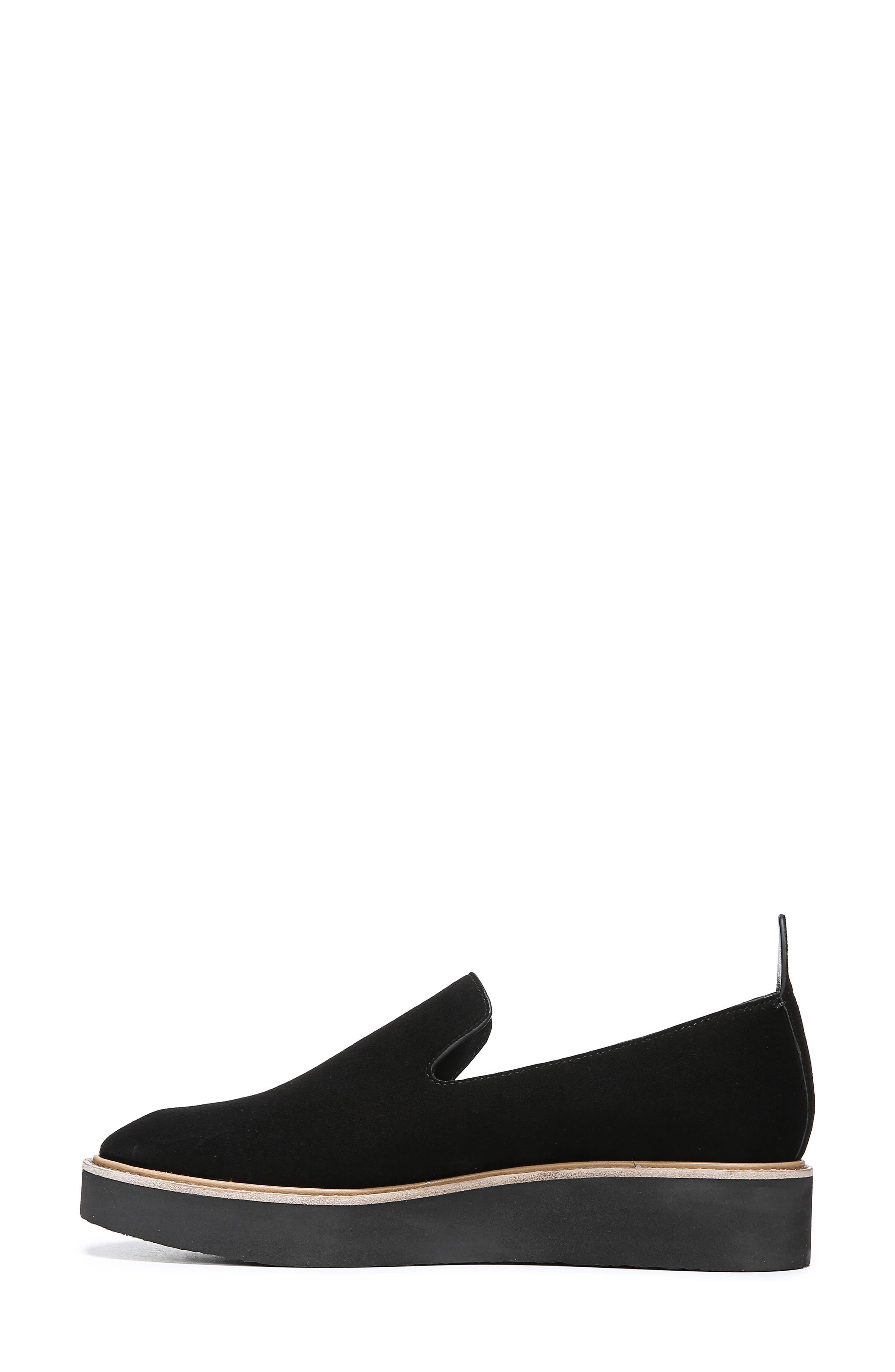 Sanders Slip-On Sneaker,                             Alternate thumbnail 8, color,                             BLACK/ BLACK LEATHER
