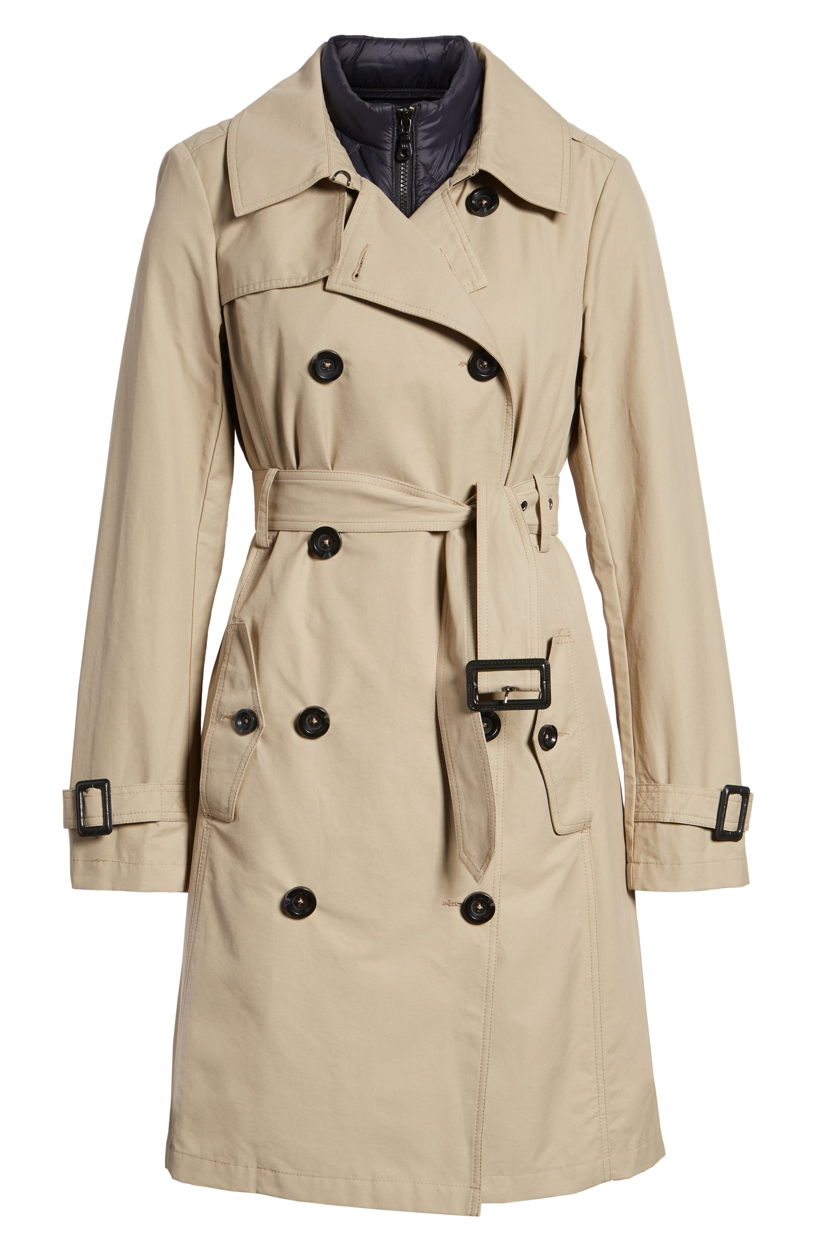 3-in-1 Trench Coat with Vest,                             Alternate thumbnail 7, color,                             299