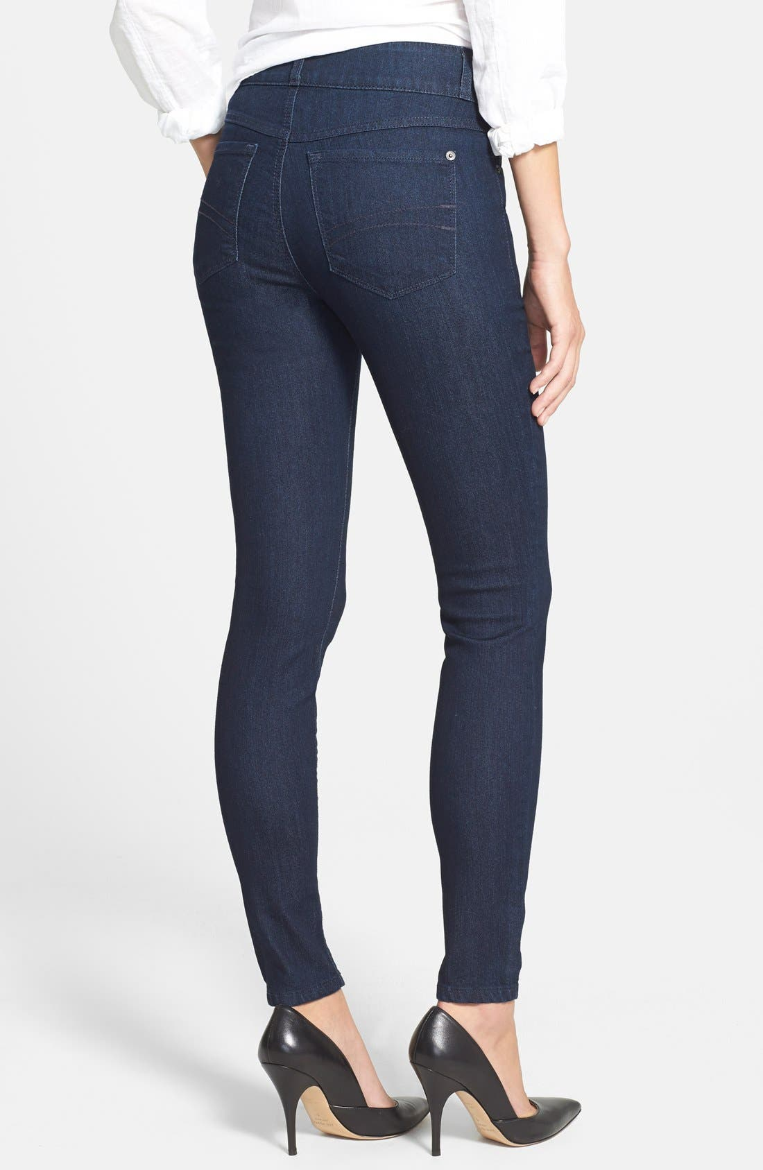 Wide Waistband Skinny Jeans,                             Alternate thumbnail 2, color,                             410