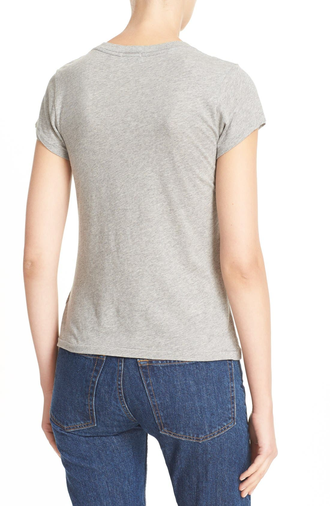 x Hanes '1960s Slim' V-Neck Tee,                             Alternate thumbnail 2, color,
