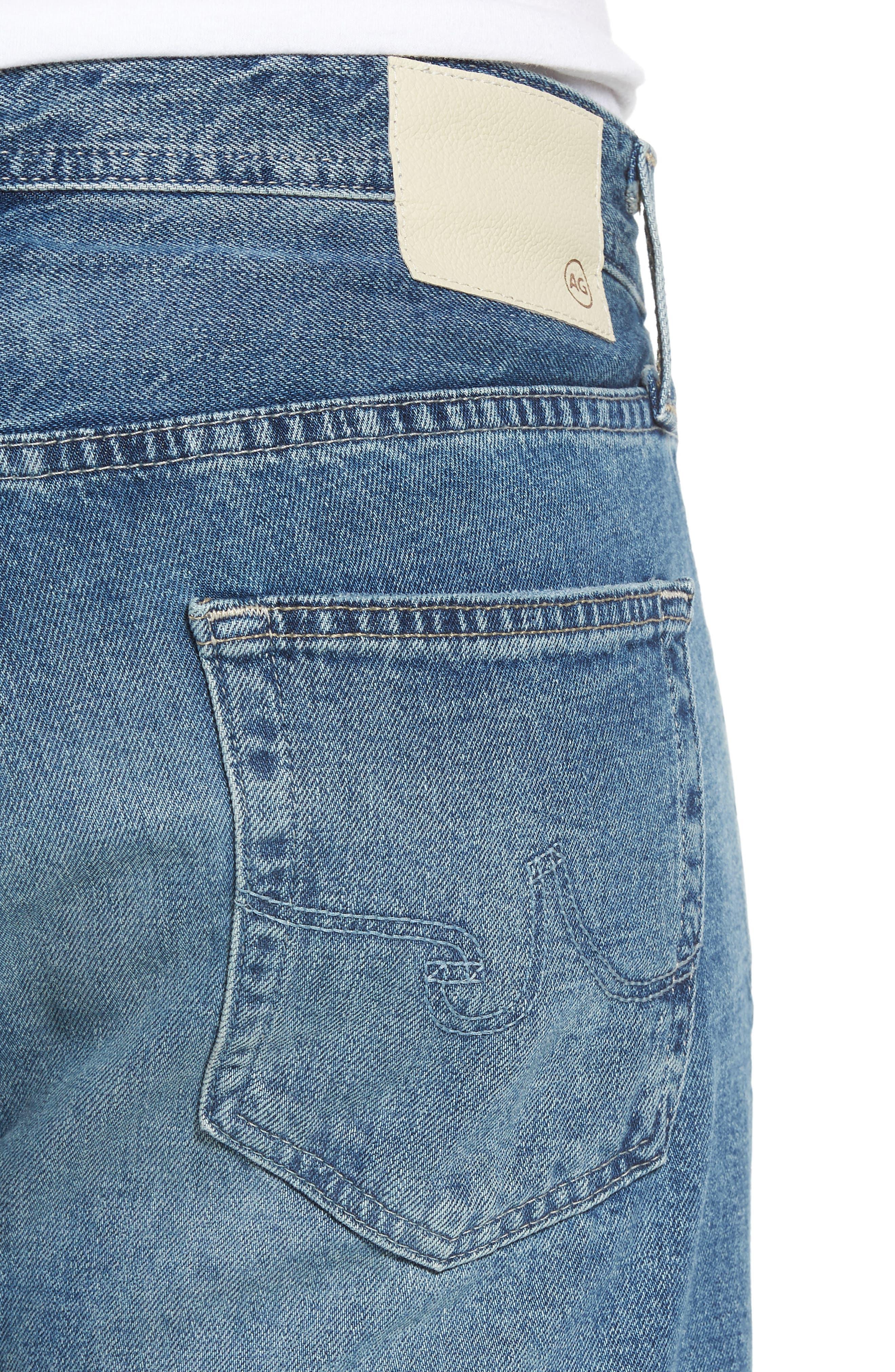 Pipe Slim Straight Leg Jeans,                             Alternate thumbnail 4, color,                             464