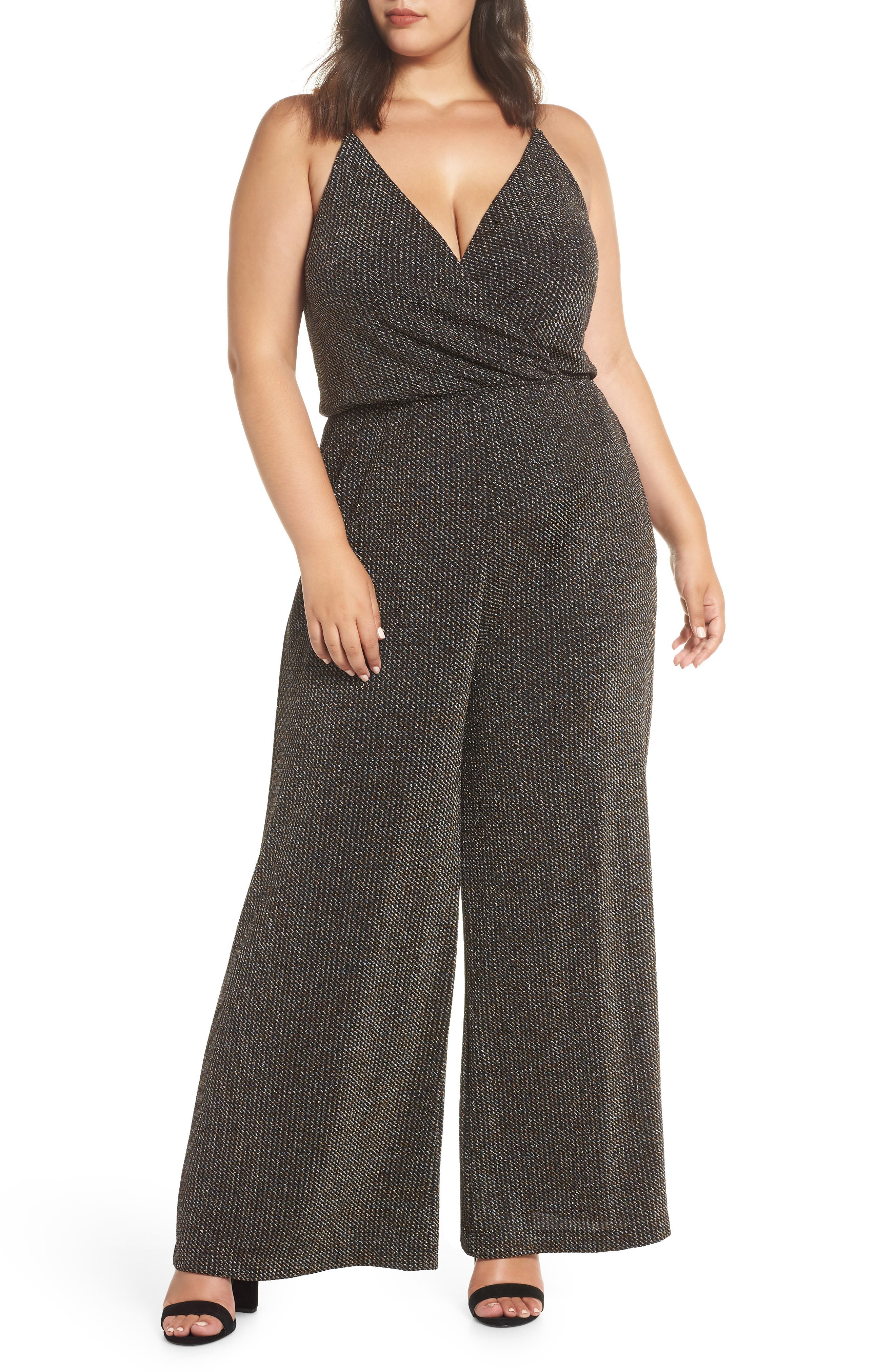 Holiday Metallic Jumpsuit,                         Main,                         color, SILVER