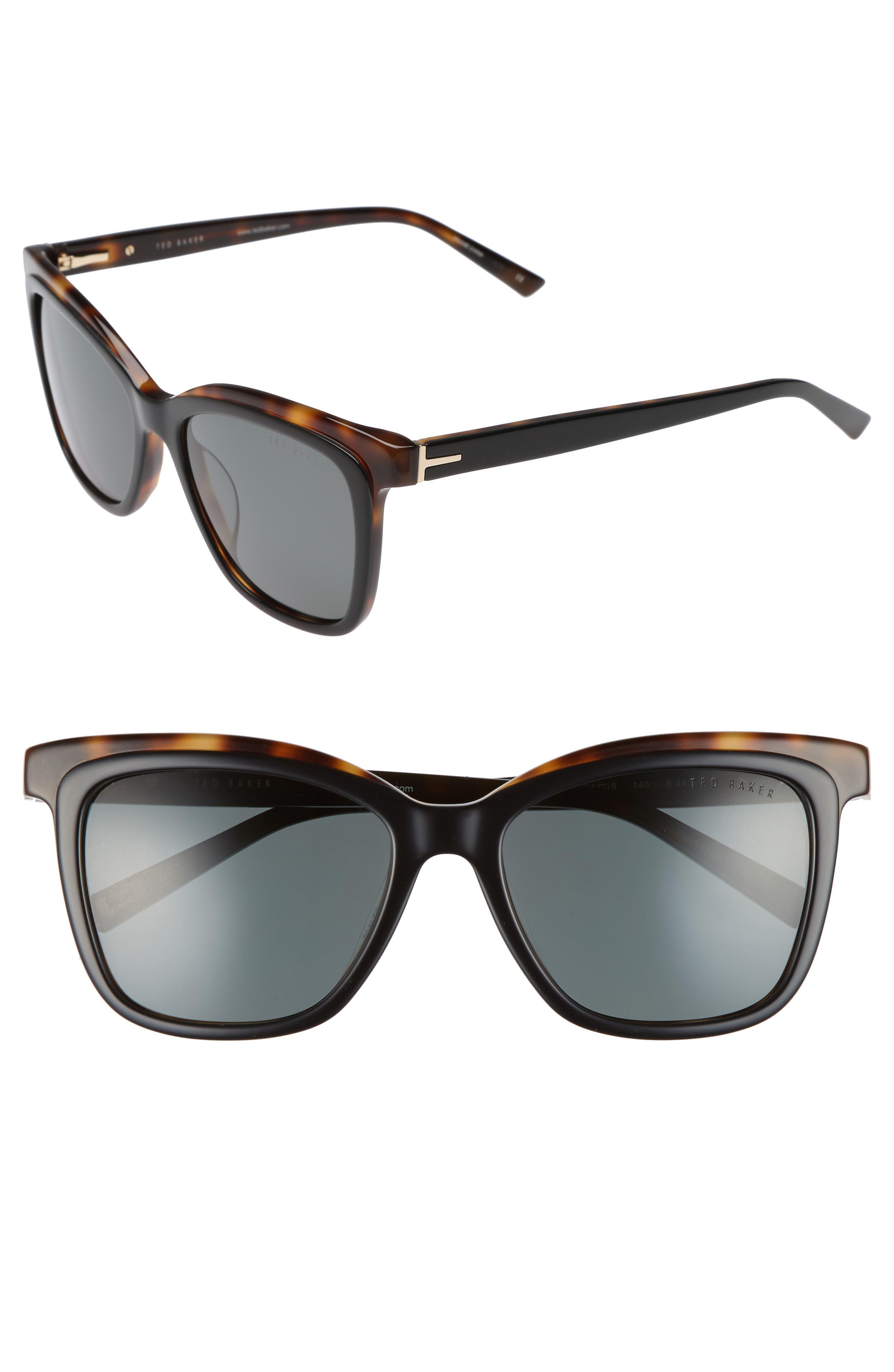 54mm Polarized Cat Eye Sunglasses,                             Main thumbnail 1, color,                             002