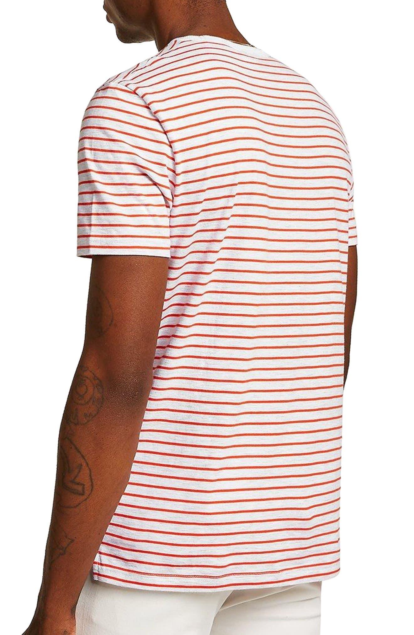 Stripe T-Shirt,                             Alternate thumbnail 2, color,                             ORANGE MULTI