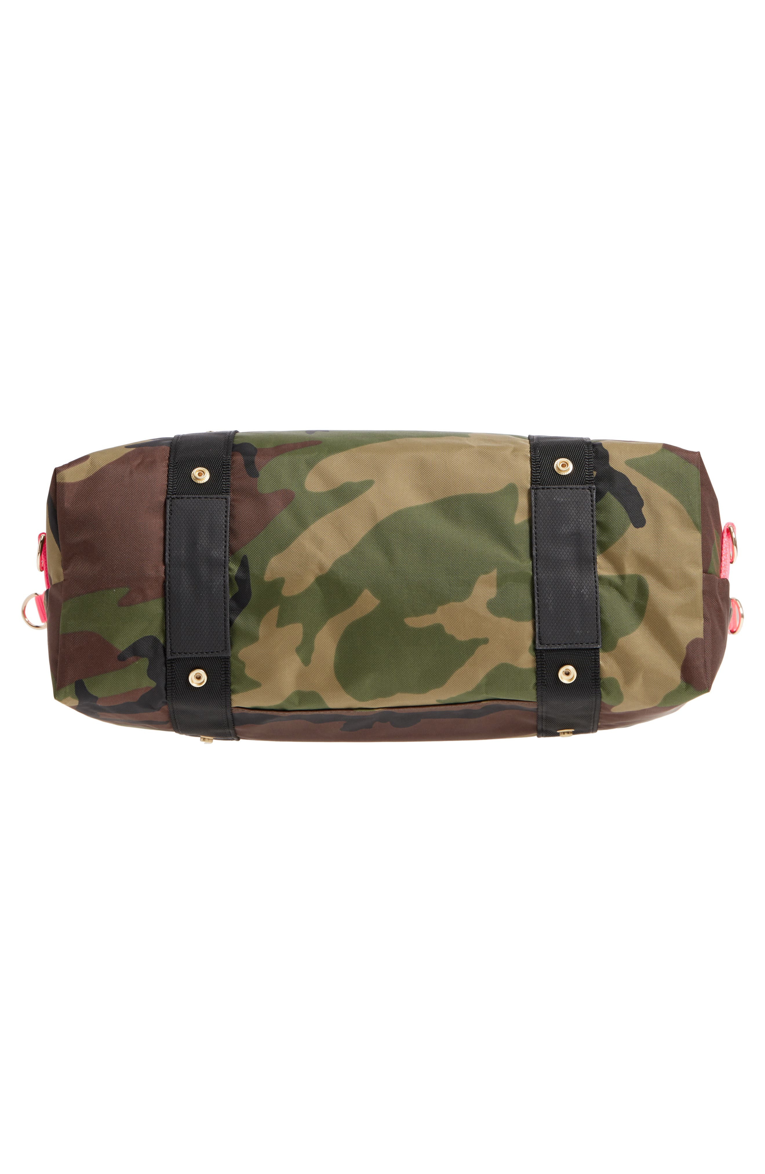 The ANDI Camo Convertible Tote,                             Alternate thumbnail 7, color,                             WOODLAND CAMOUFLAGE/ HOT PINK