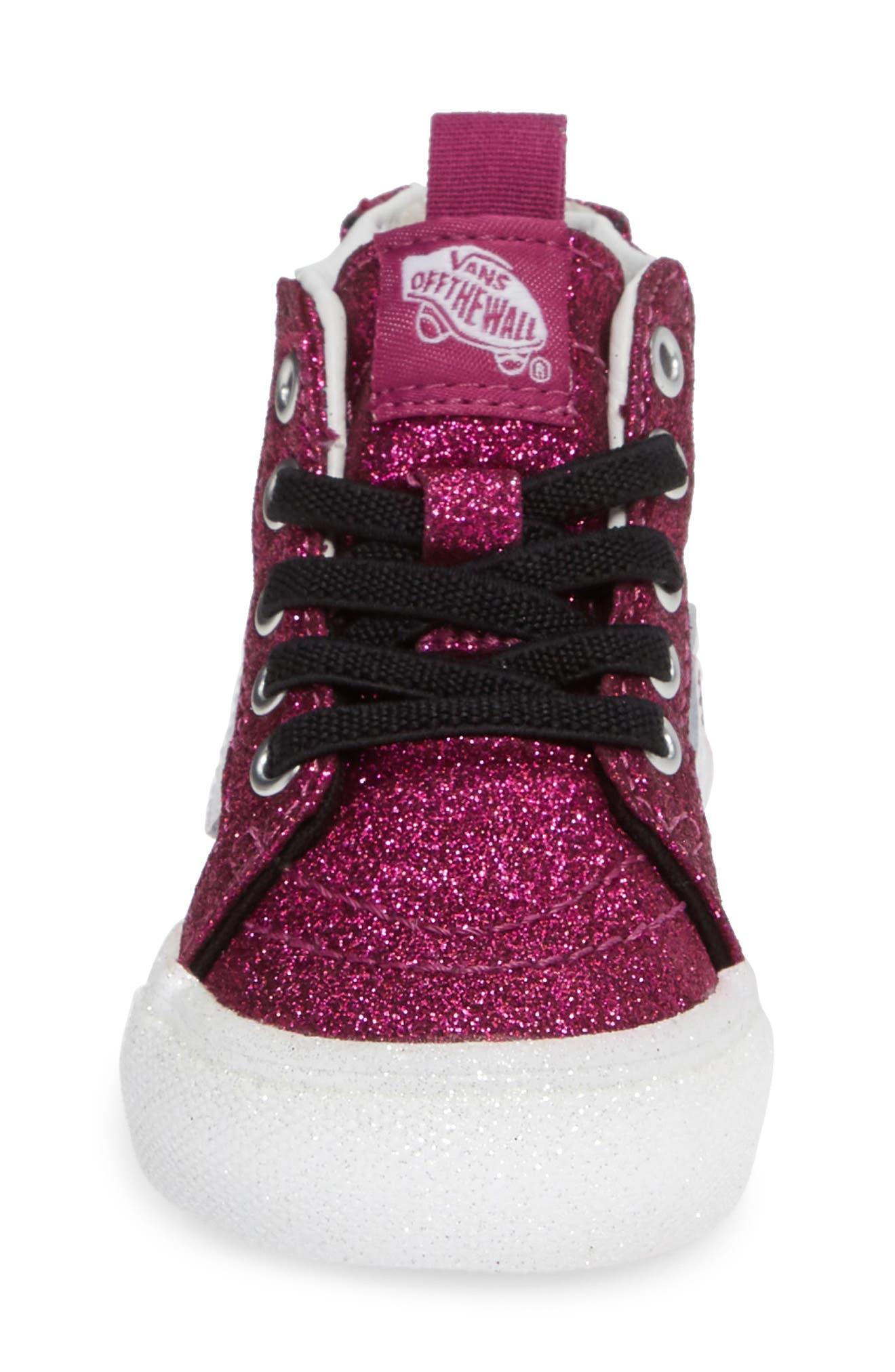 SK8-Hi Zip Sneaker,                             Alternate thumbnail 4, color,                             WILD ASTER/ TRUE WHITE