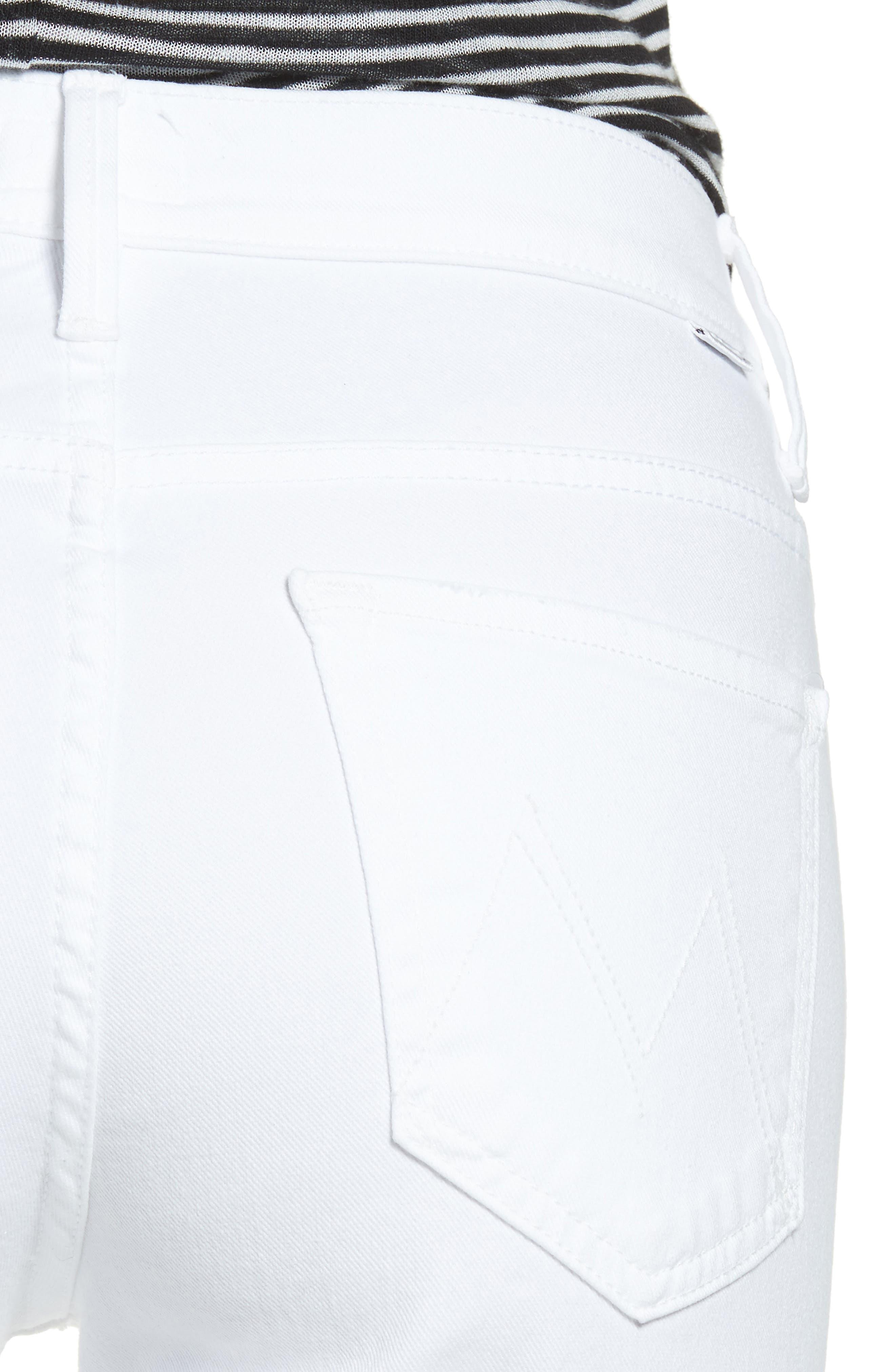 MOTHER,                             The Insider Step Hem Crop Bootcut Jeans,                             Alternate thumbnail 4, color,                             GLASS SLIPPER