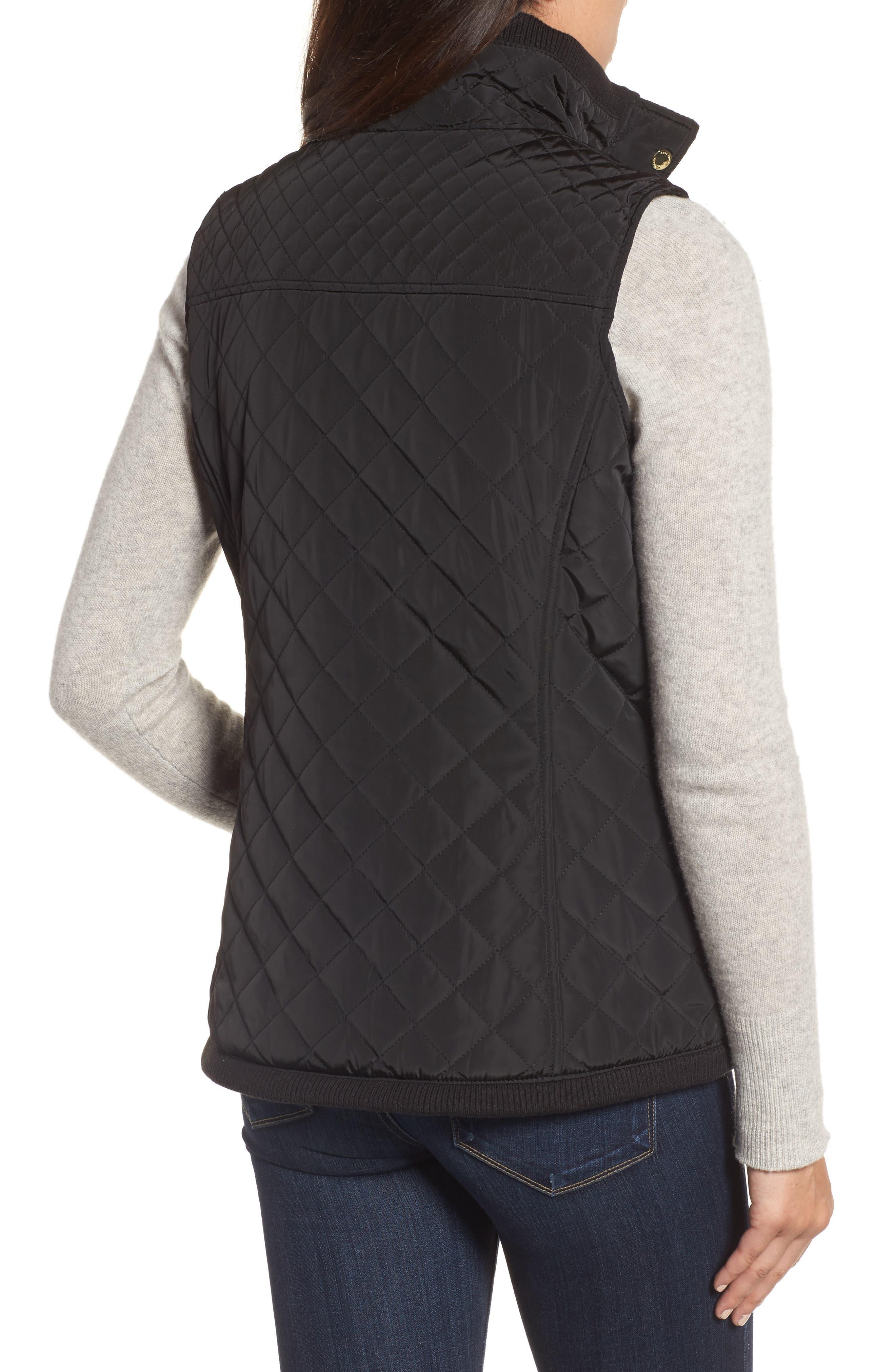 Diamond Quilted Vest,                             Alternate thumbnail 6, color,