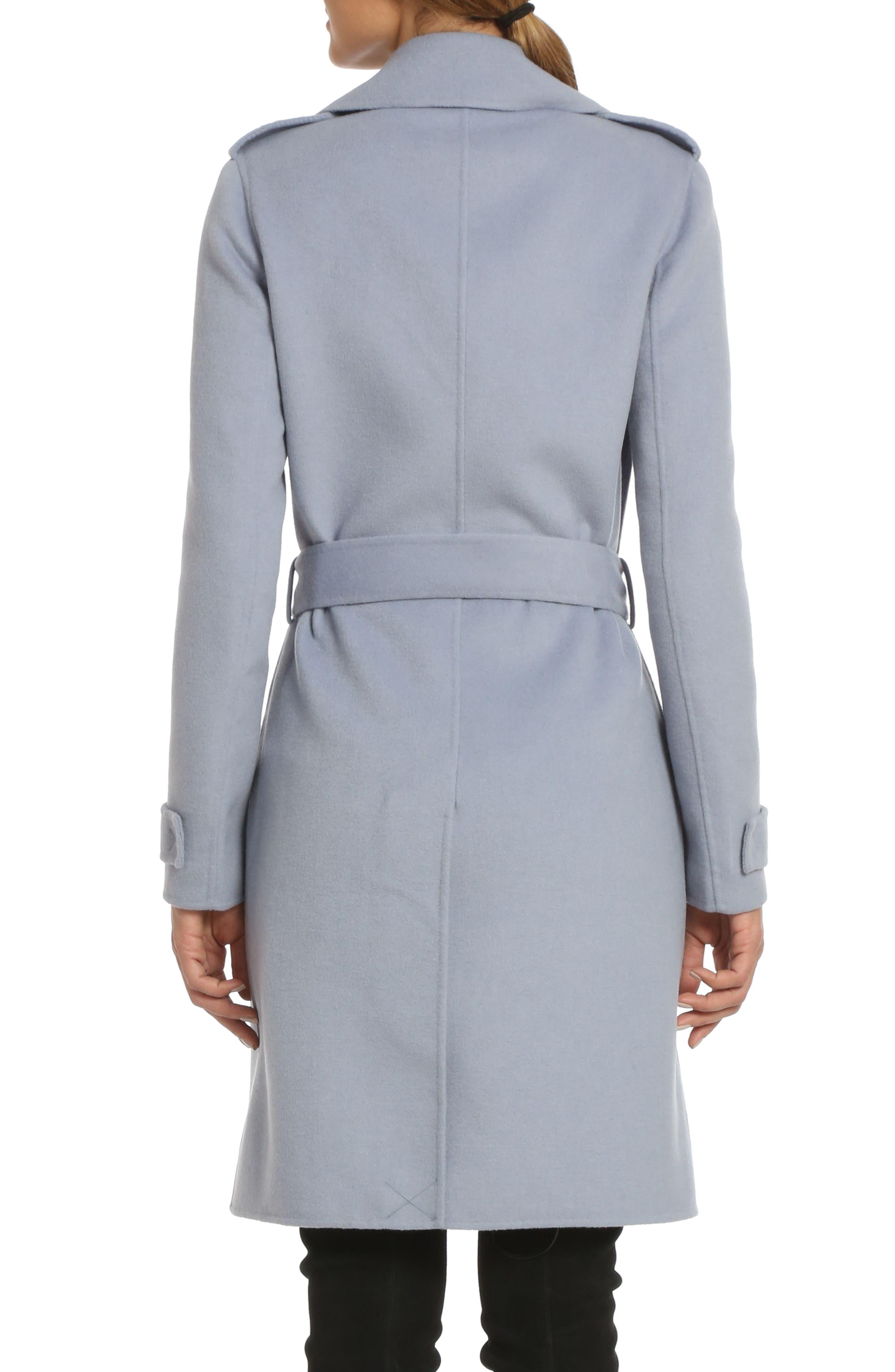 Alexis Double Face Wool Blend Long Wrap Coat,                             Alternate thumbnail 2, color,                             456