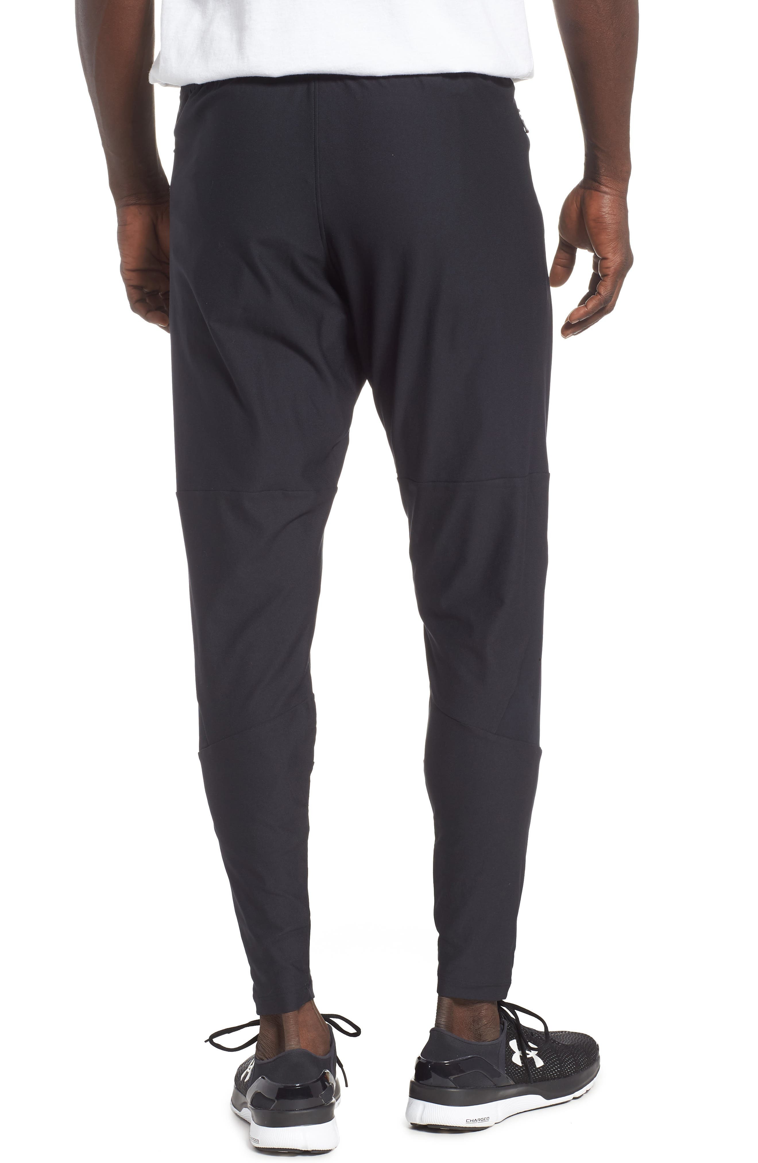Threadborne Vanish Fitted Pants,                             Alternate thumbnail 2, color,                             BLACK