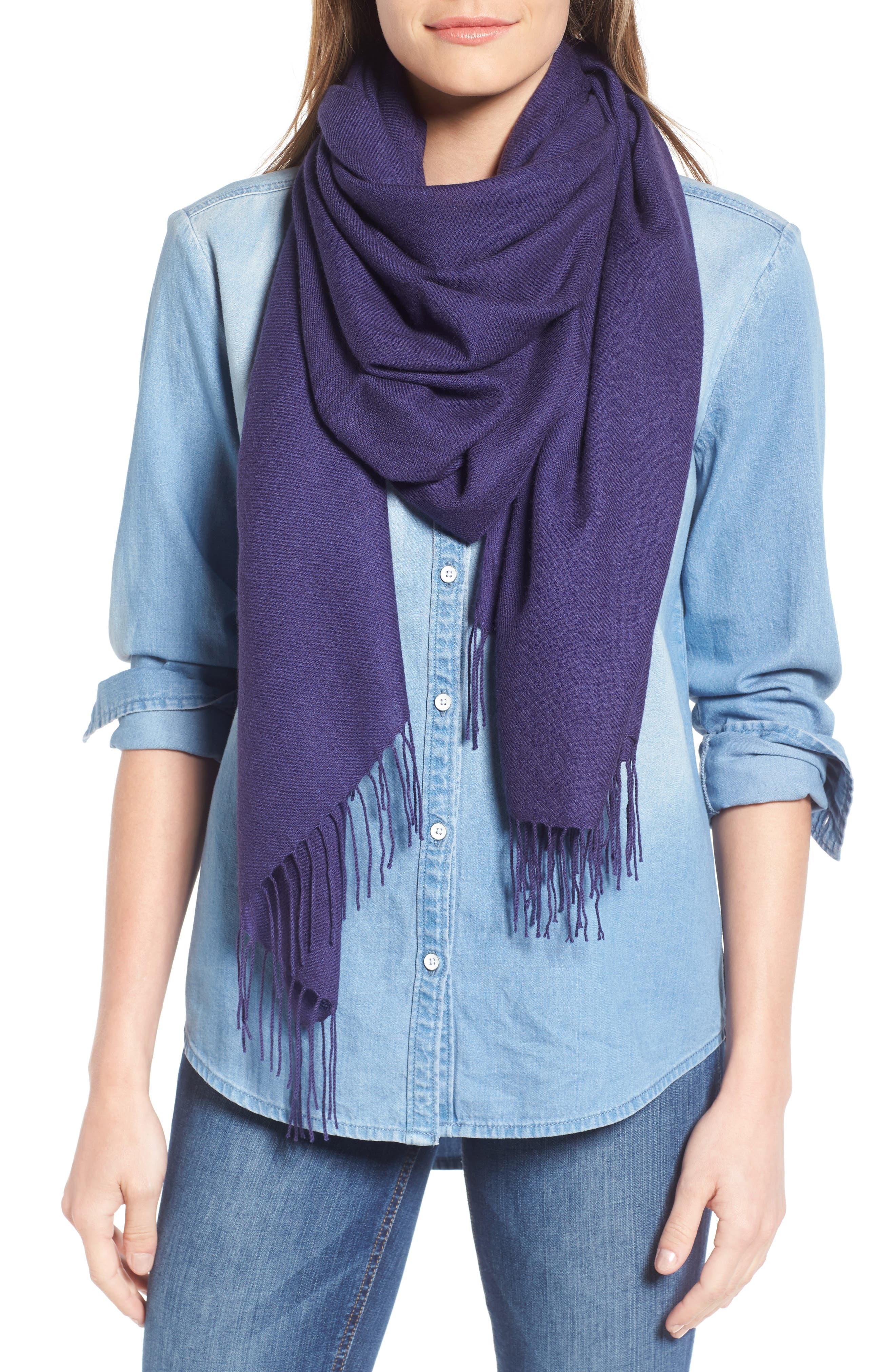 Tissue Weight Wool & Cashmere Scarf,                             Main thumbnail 44, color,