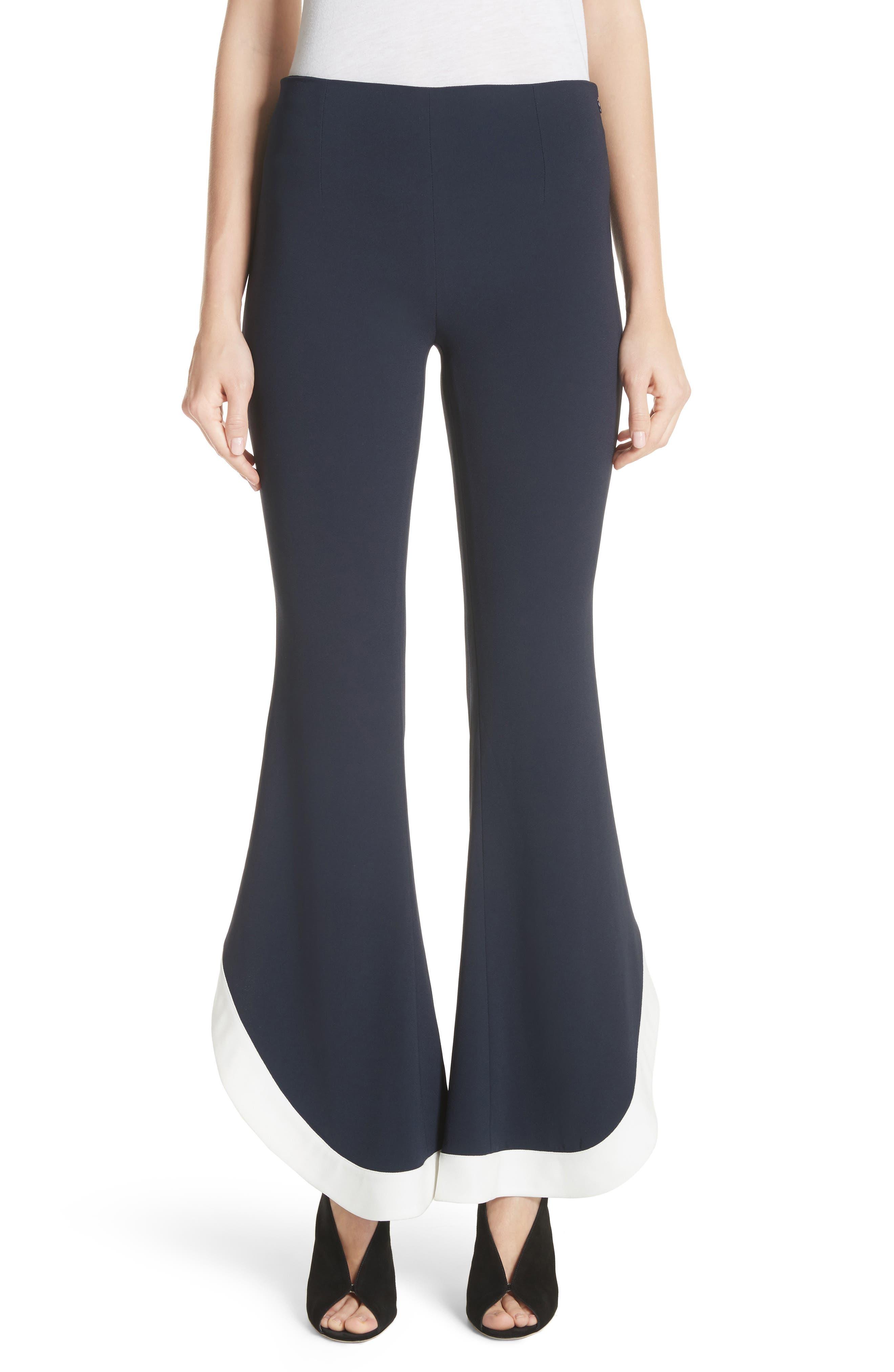 Ruffle Hem Pants,                         Main,                         color,