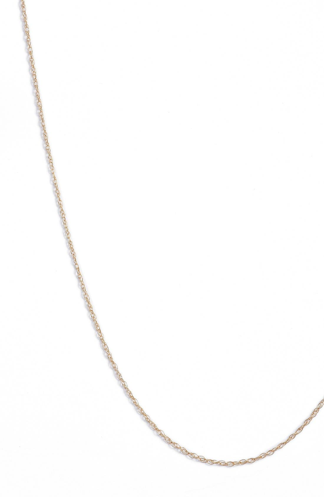 Kardee Kids Cable Chain Necklace,                             Alternate thumbnail 2, color,                             YELLOW GOLD