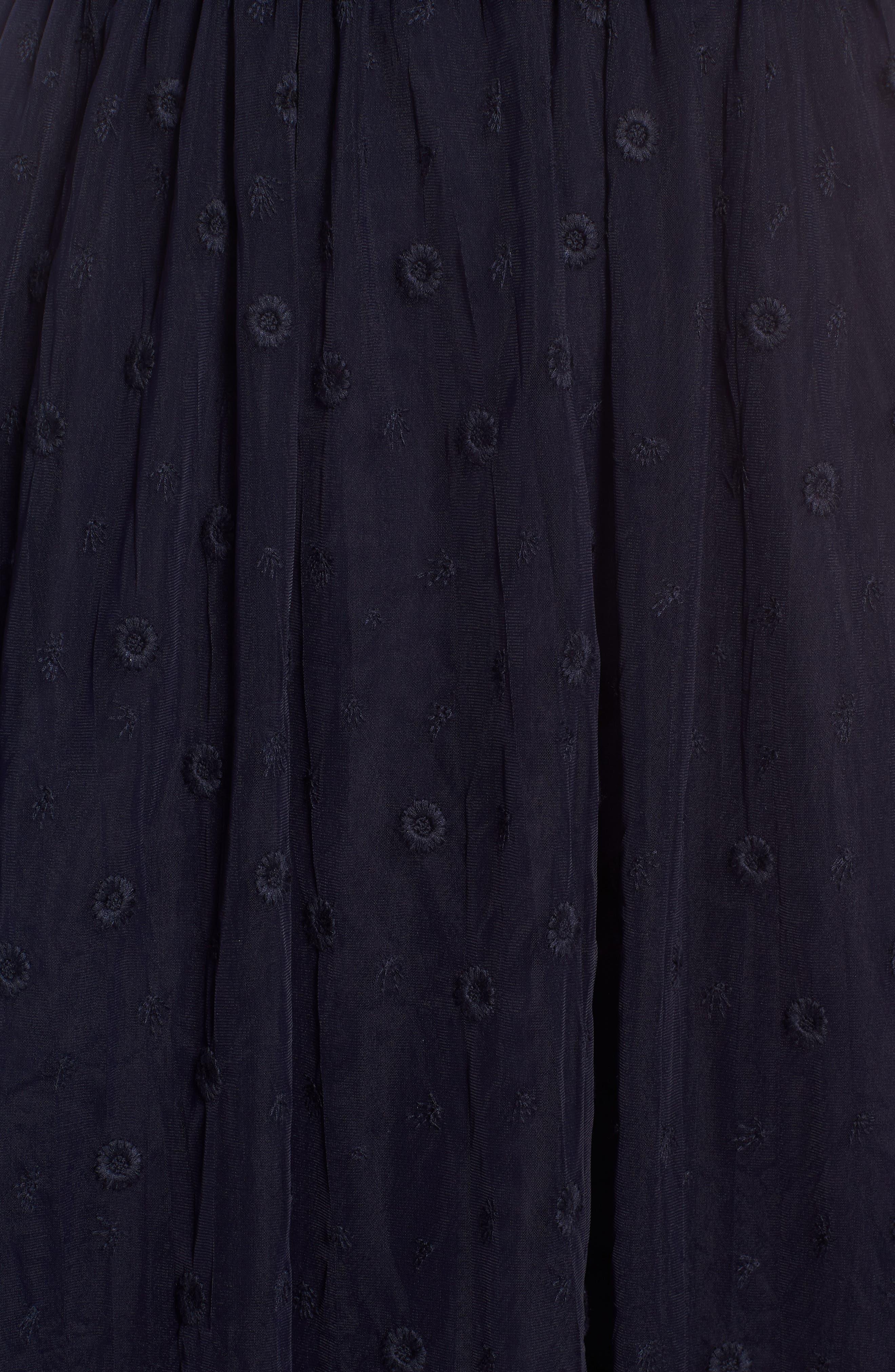 Embroidered Tulle Skirt,                             Alternate thumbnail 5, color,                             410