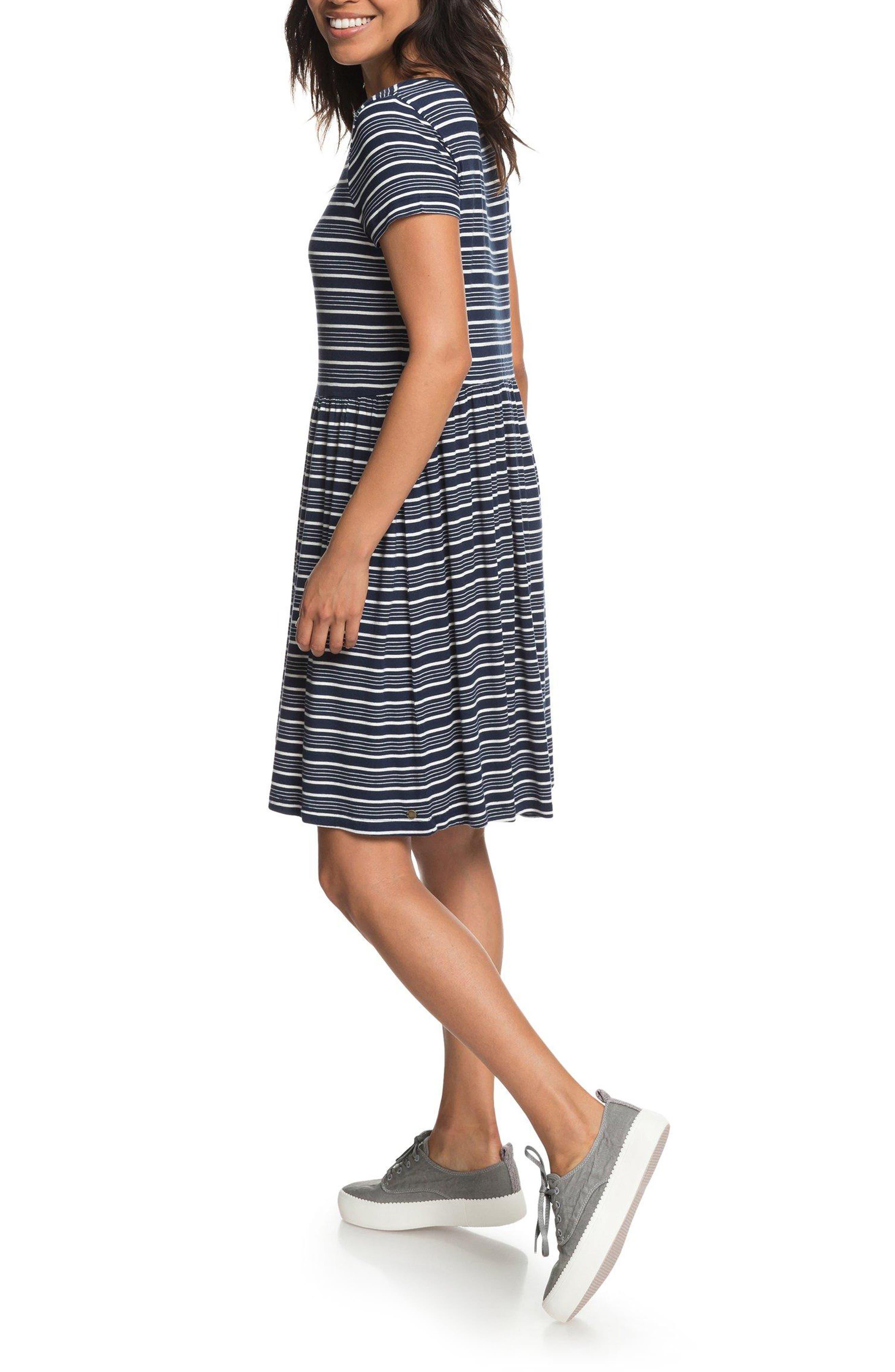 Fame For Glory Stripe T-Shirt Dress,                             Alternate thumbnail 2, color,                             400
