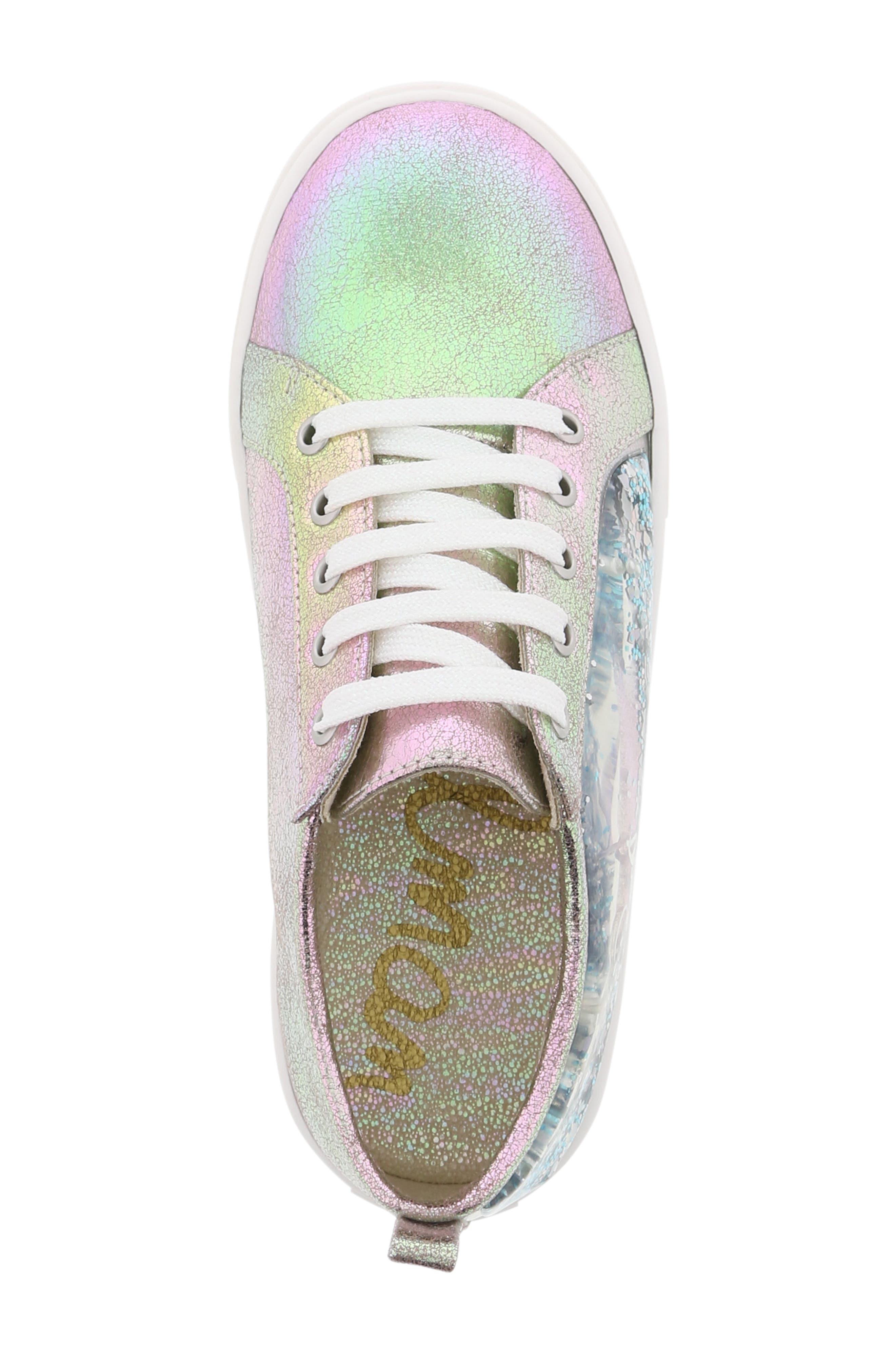 Bella Aqua Slip-On Sneaker,                             Alternate thumbnail 5, color,                             GASOLINE IRIDESCENT
