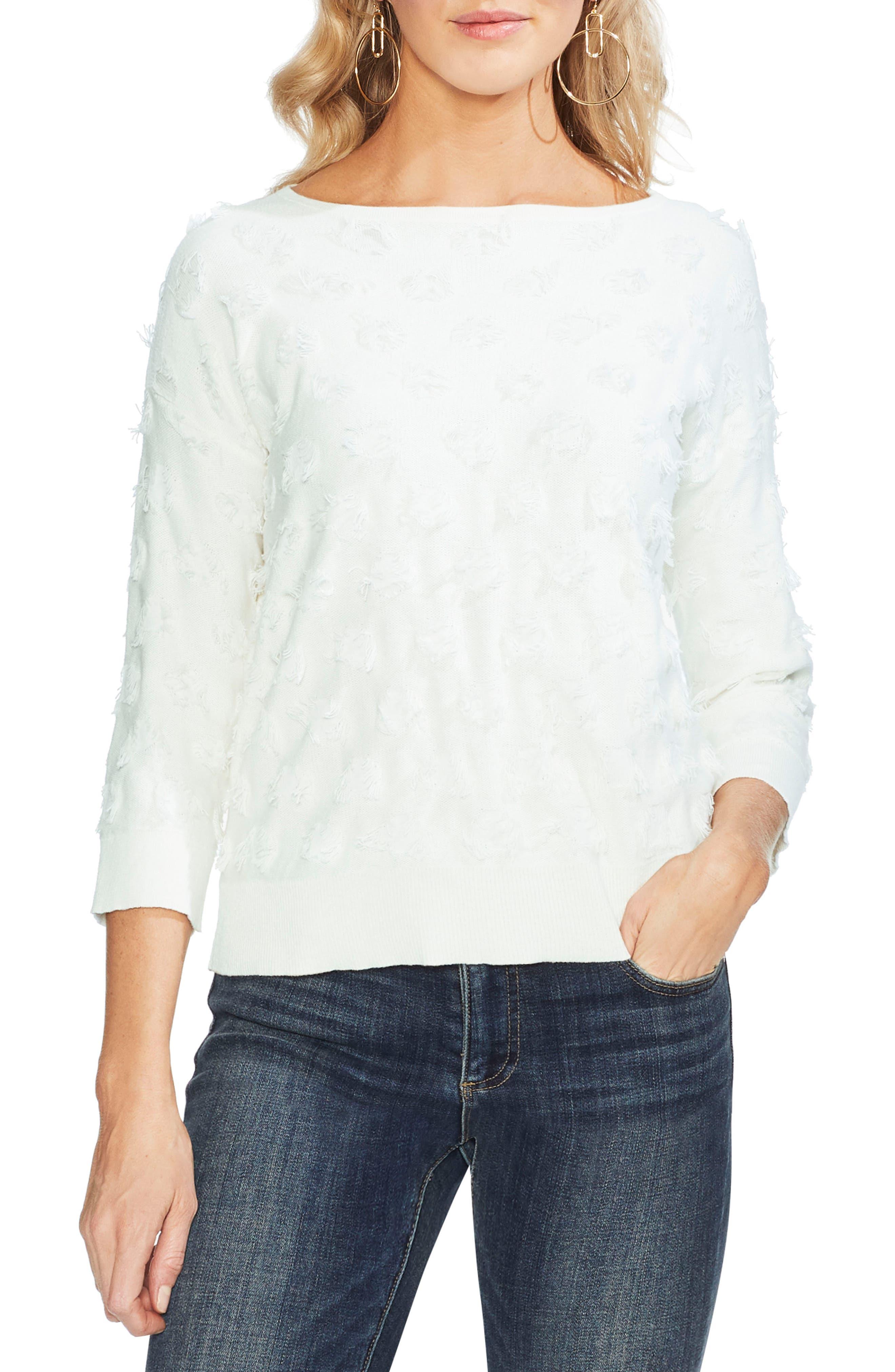 Vince Camuto Eyelash Sweater, Blue