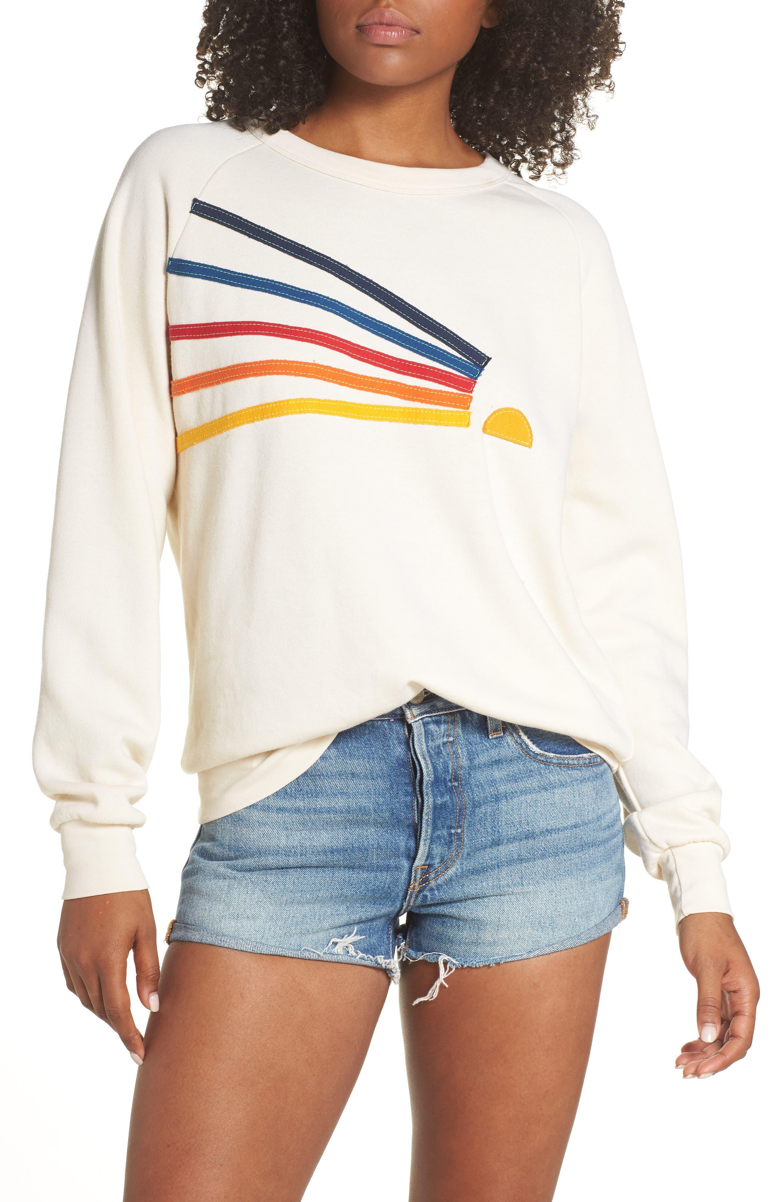 AVIATOR NATION Daydream Sweatshirt in Vintage White