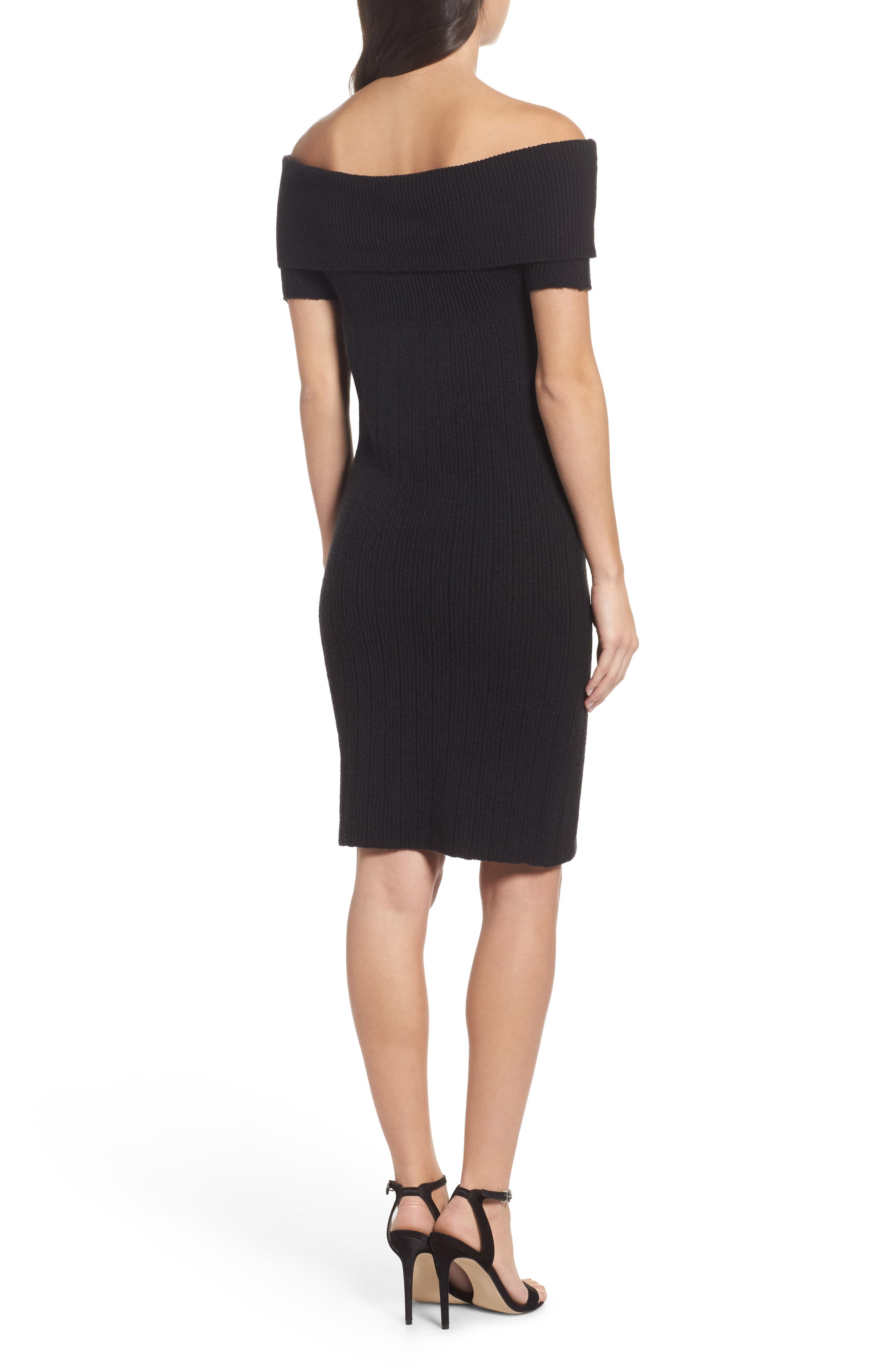 Porter Off the Shoulder Sheath Dress,                             Alternate thumbnail 3, color,