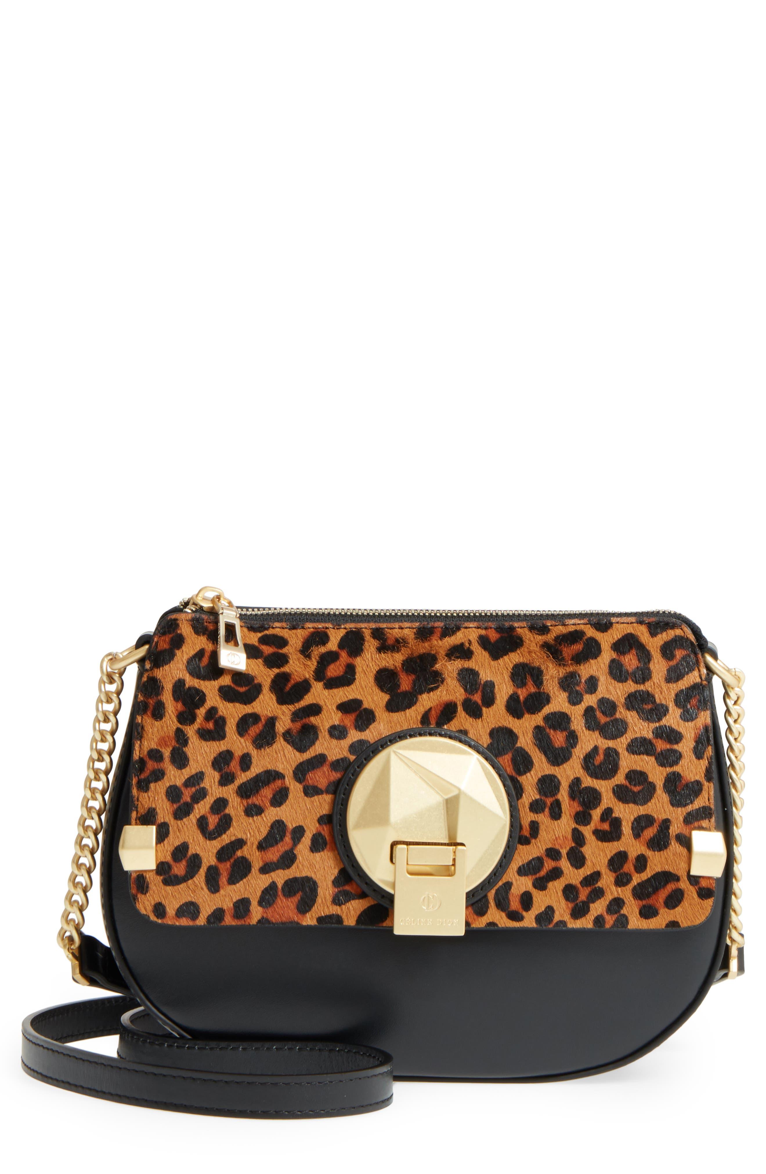 Céline Dion Octave Leather Crossbody Bag,                         Main,                         color,