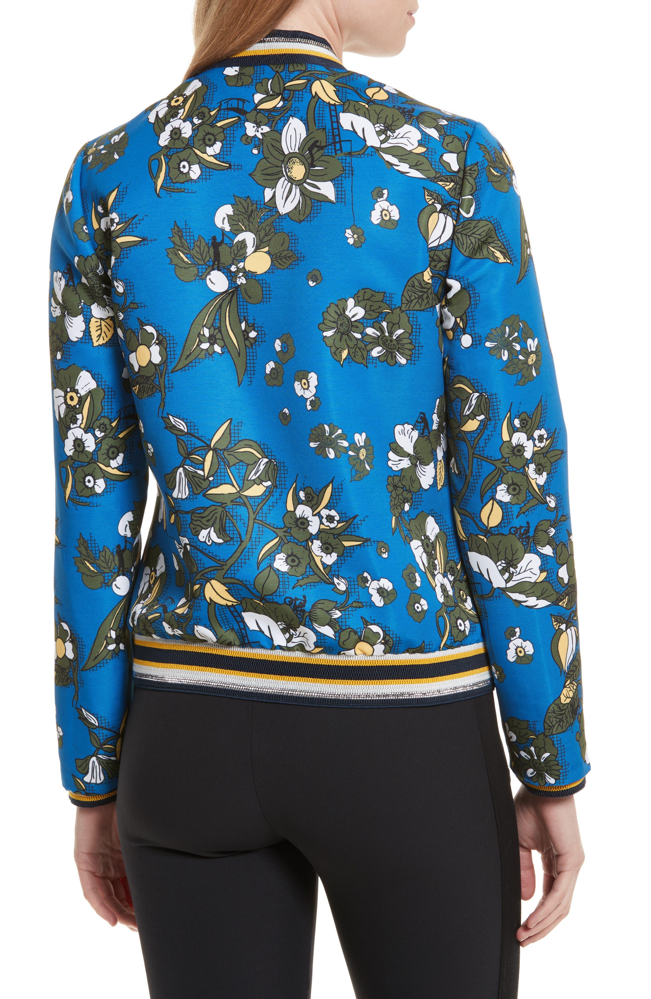 Cheylan Floral Bomber Jacket,                             Alternate thumbnail 2, color,