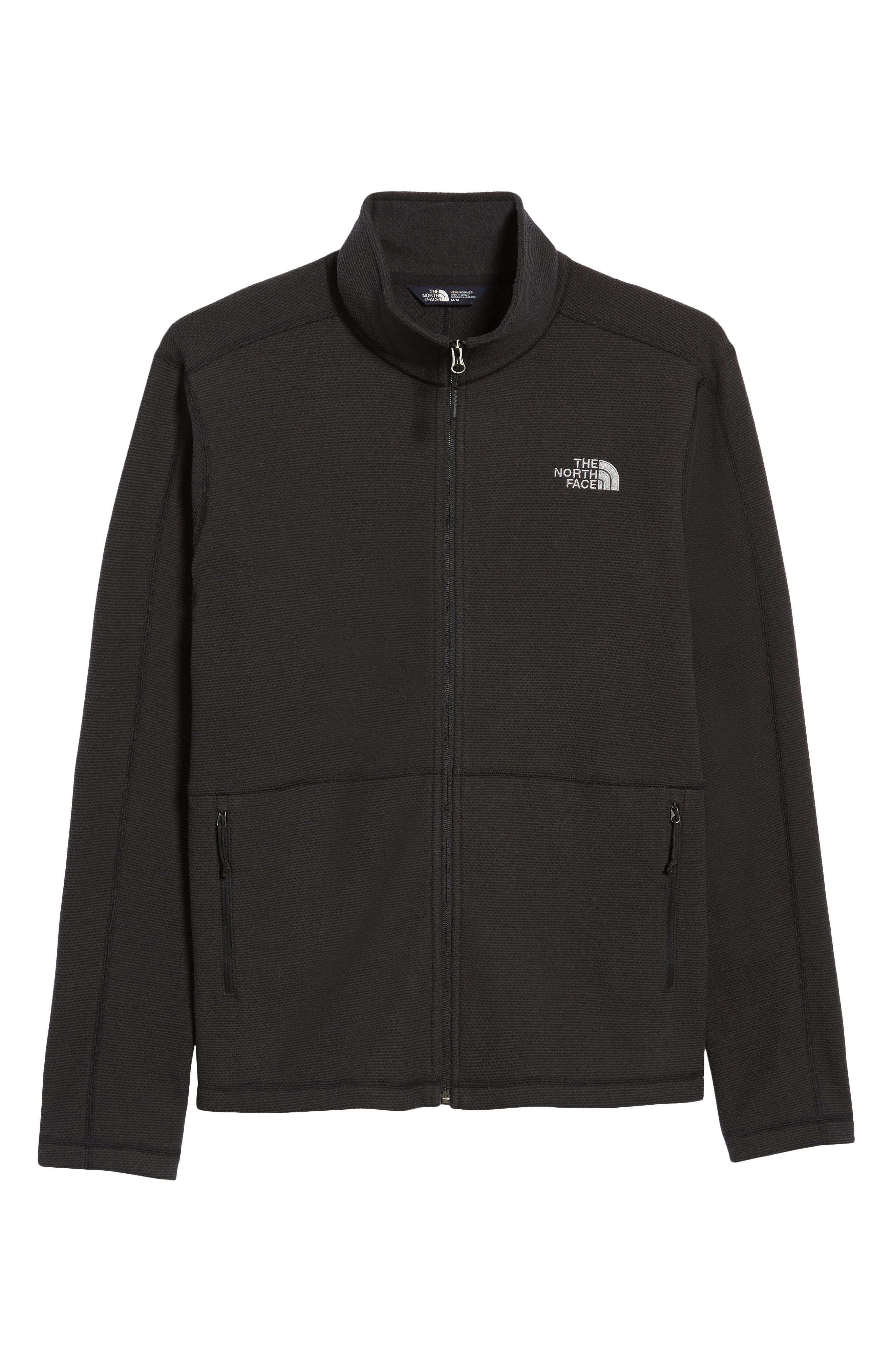 Texture Cap Rock Fleece Jacket,                             Alternate thumbnail 7, color,                             TNF BLACK