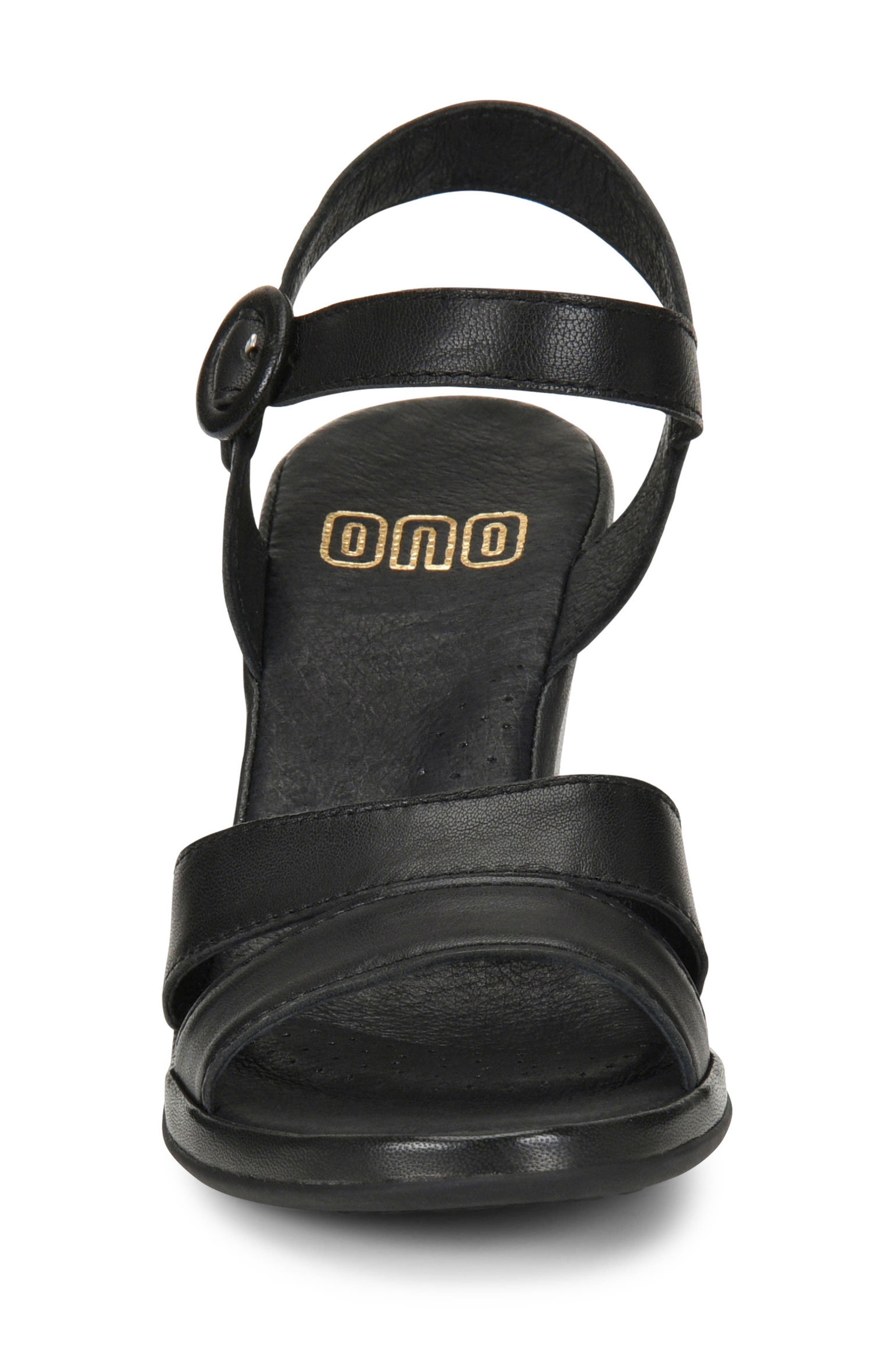Hydro Wedge Sandal,                             Alternate thumbnail 4, color,                             BLACK LEATHER