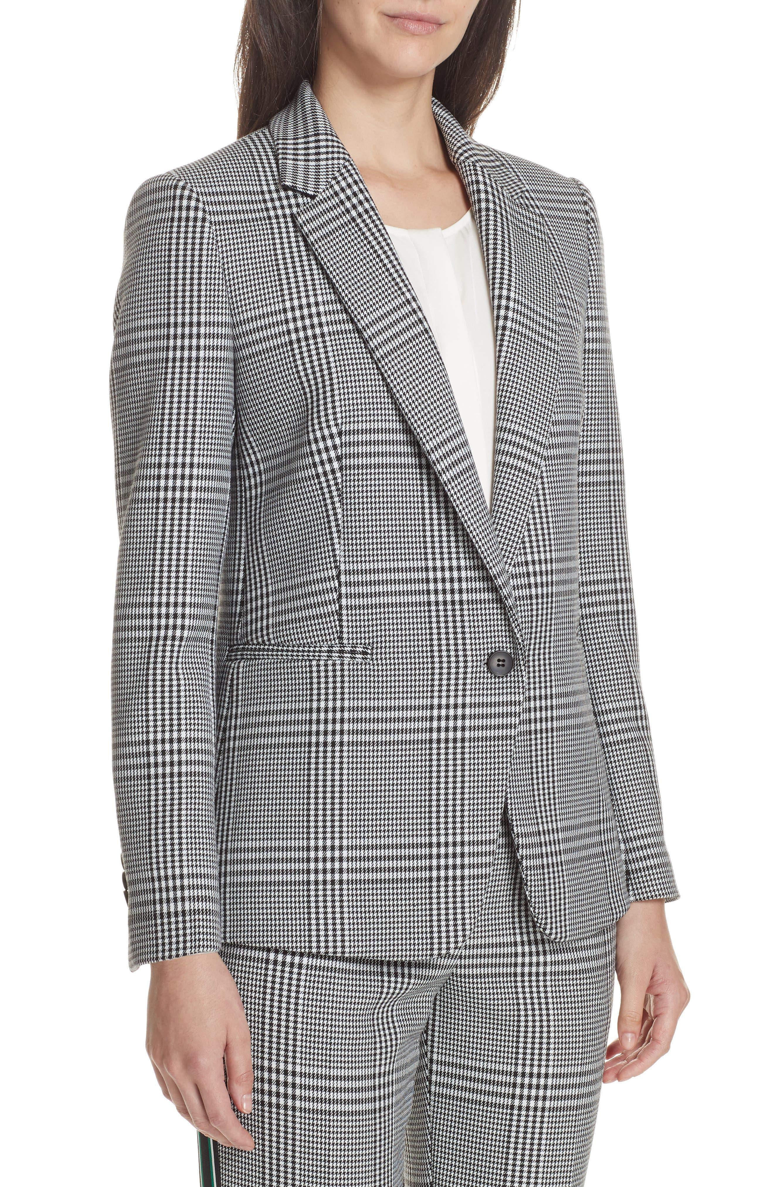 Jemaromina Glen Plaid Suit Jacket,                             Alternate thumbnail 4, color,                             GLENCHECK FANTASY